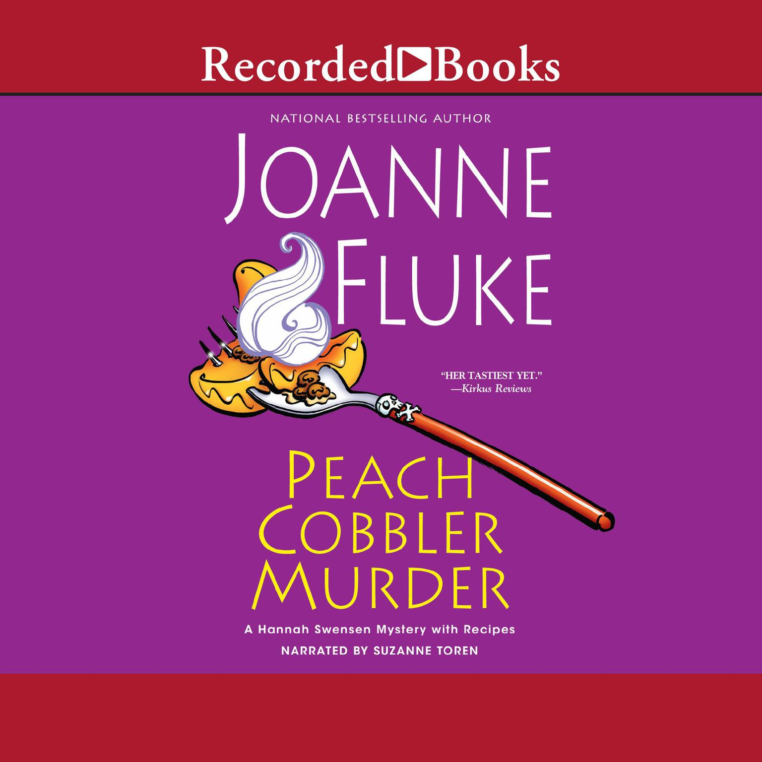 Printable Peach Cobbler Murder Audiobook Cover Art