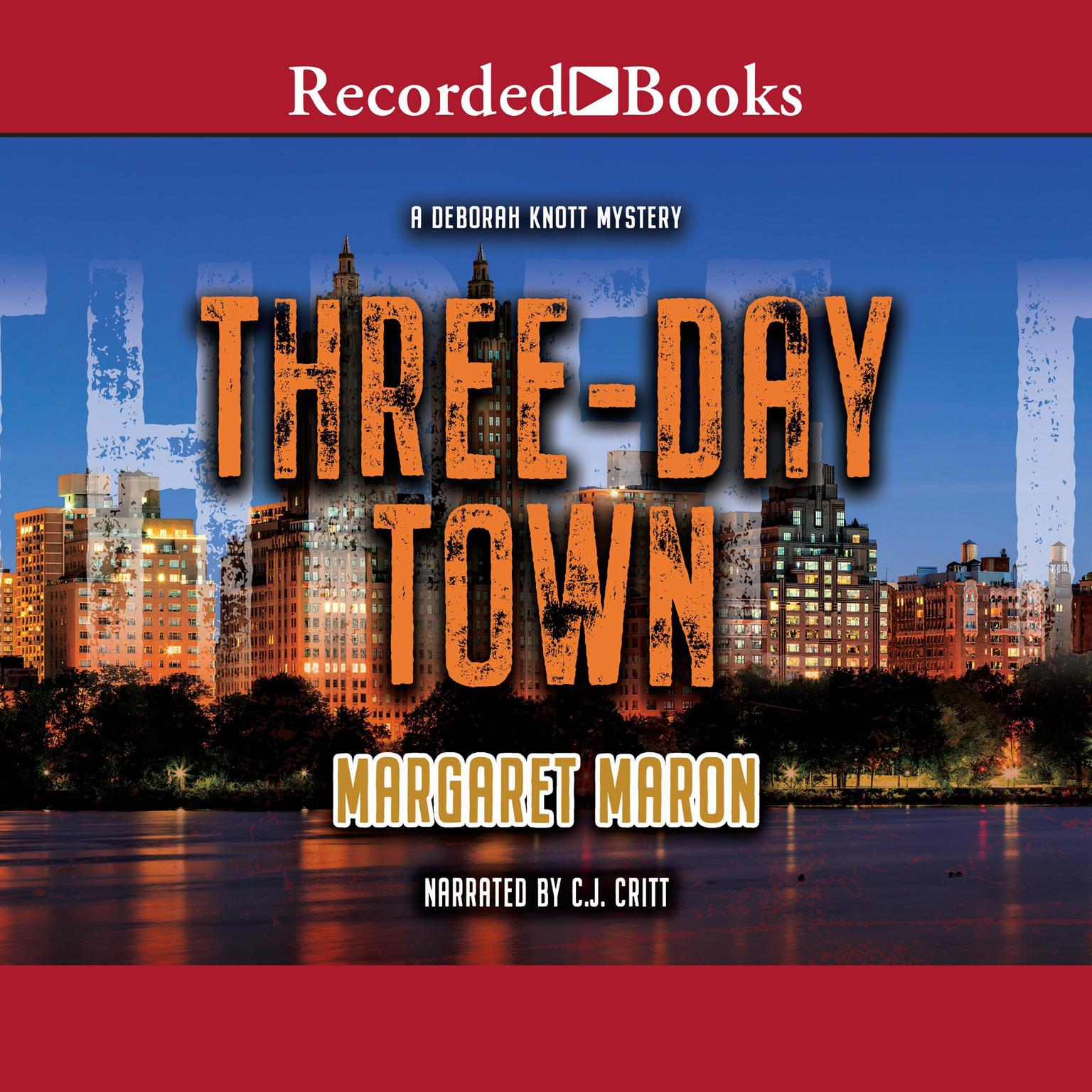 Printable Three-Day Town Audiobook Cover Art