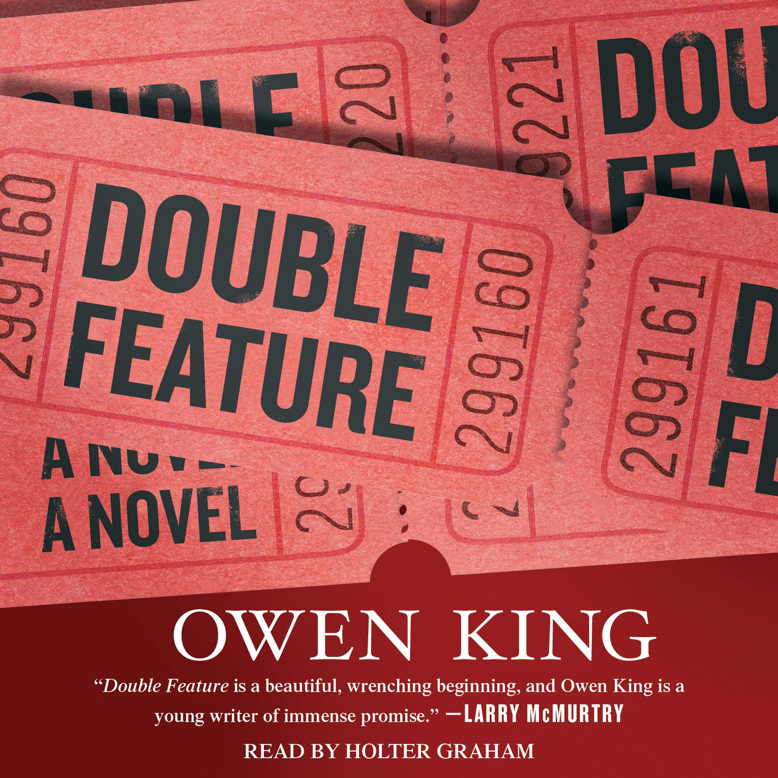 Printable Double Feature: A Novel Audiobook Cover Art