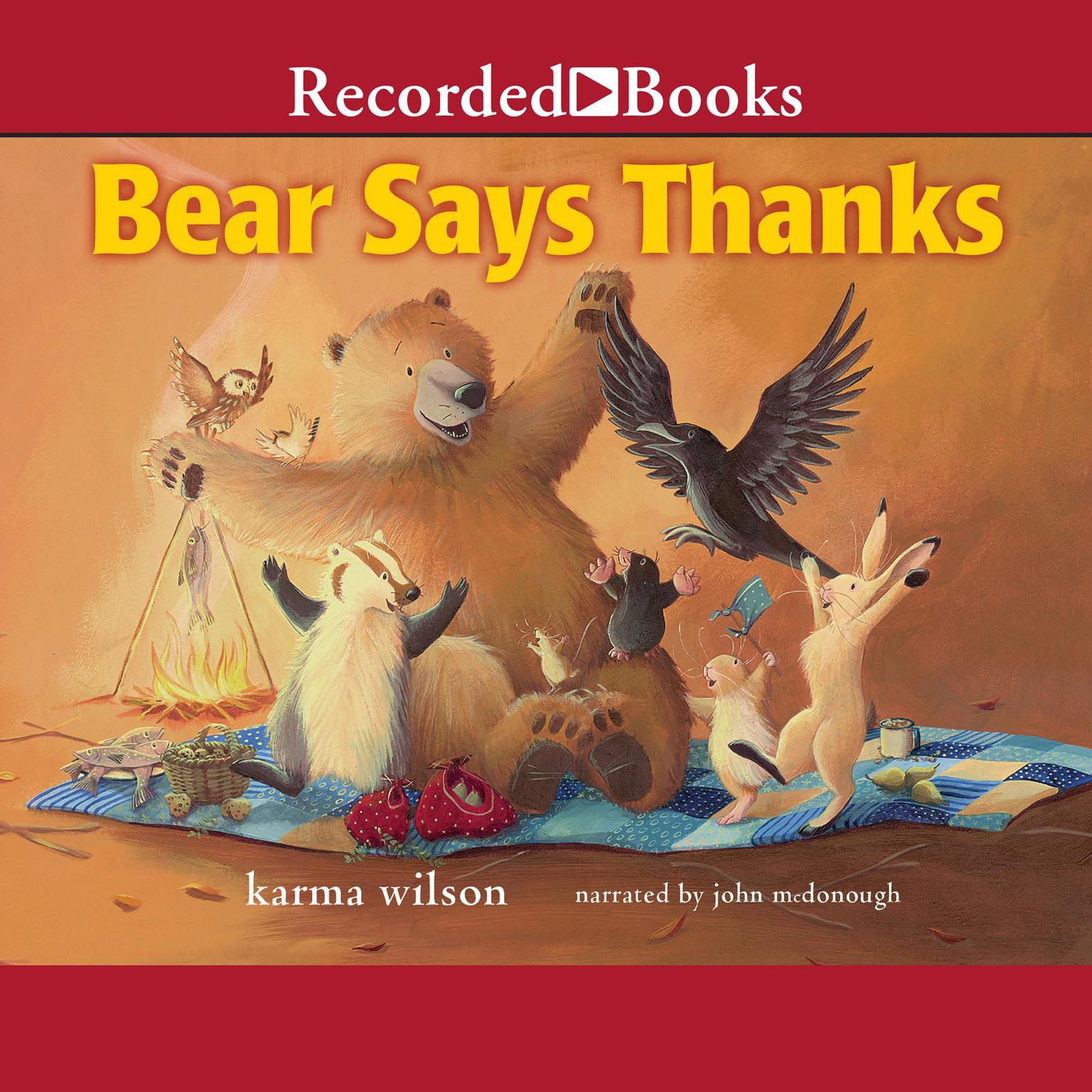Printable Bear Says Thanks Audiobook Cover Art