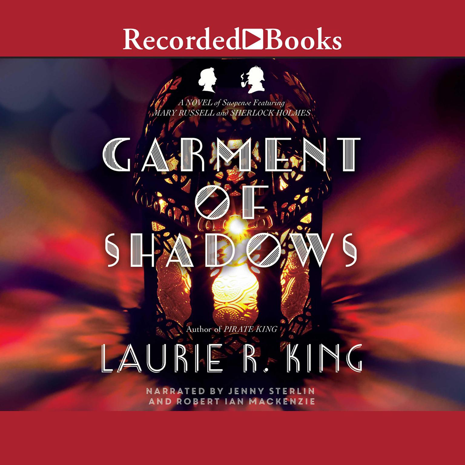 Printable Garment of Shadows Audiobook Cover Art