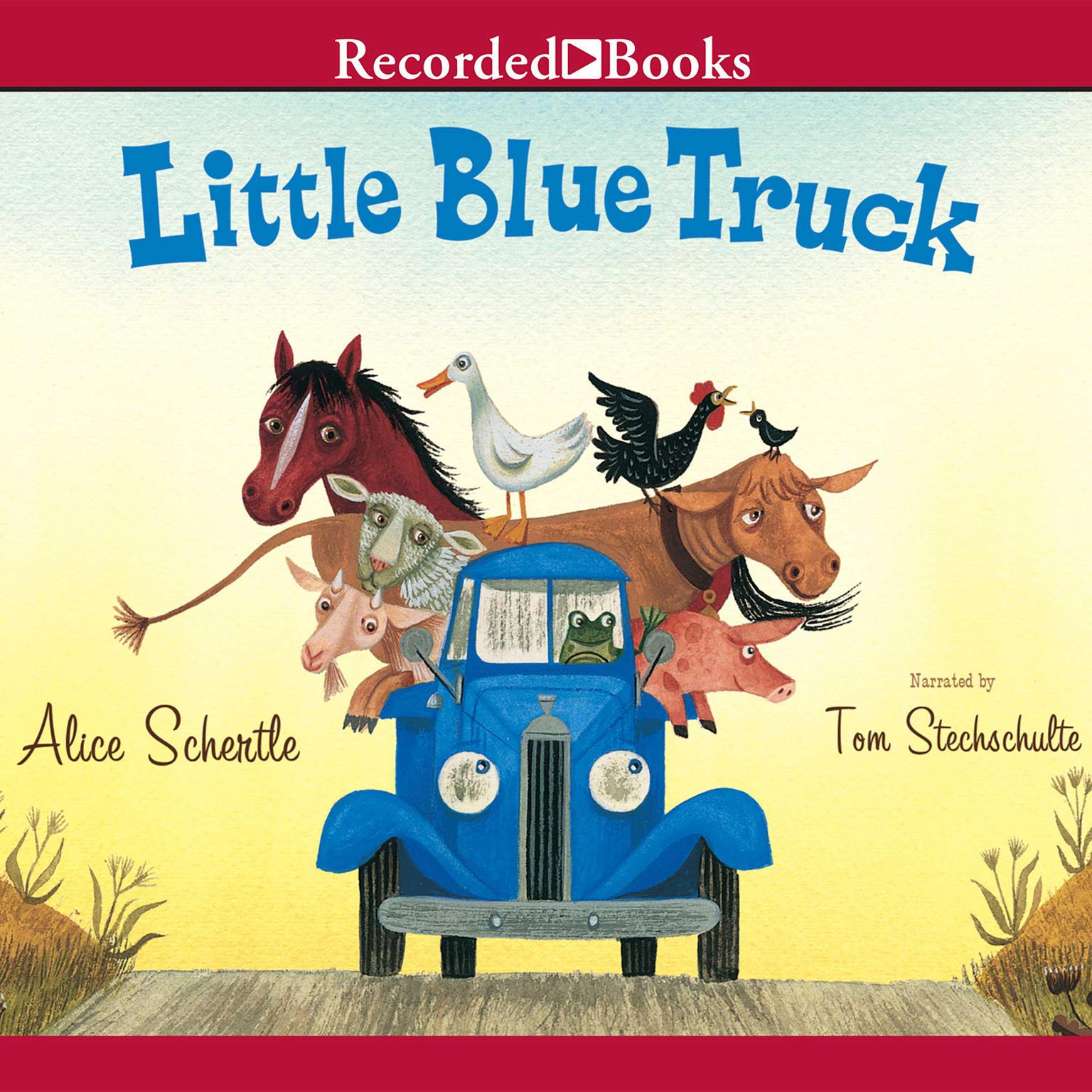 Printable Little Blue Truck Audiobook Cover Art