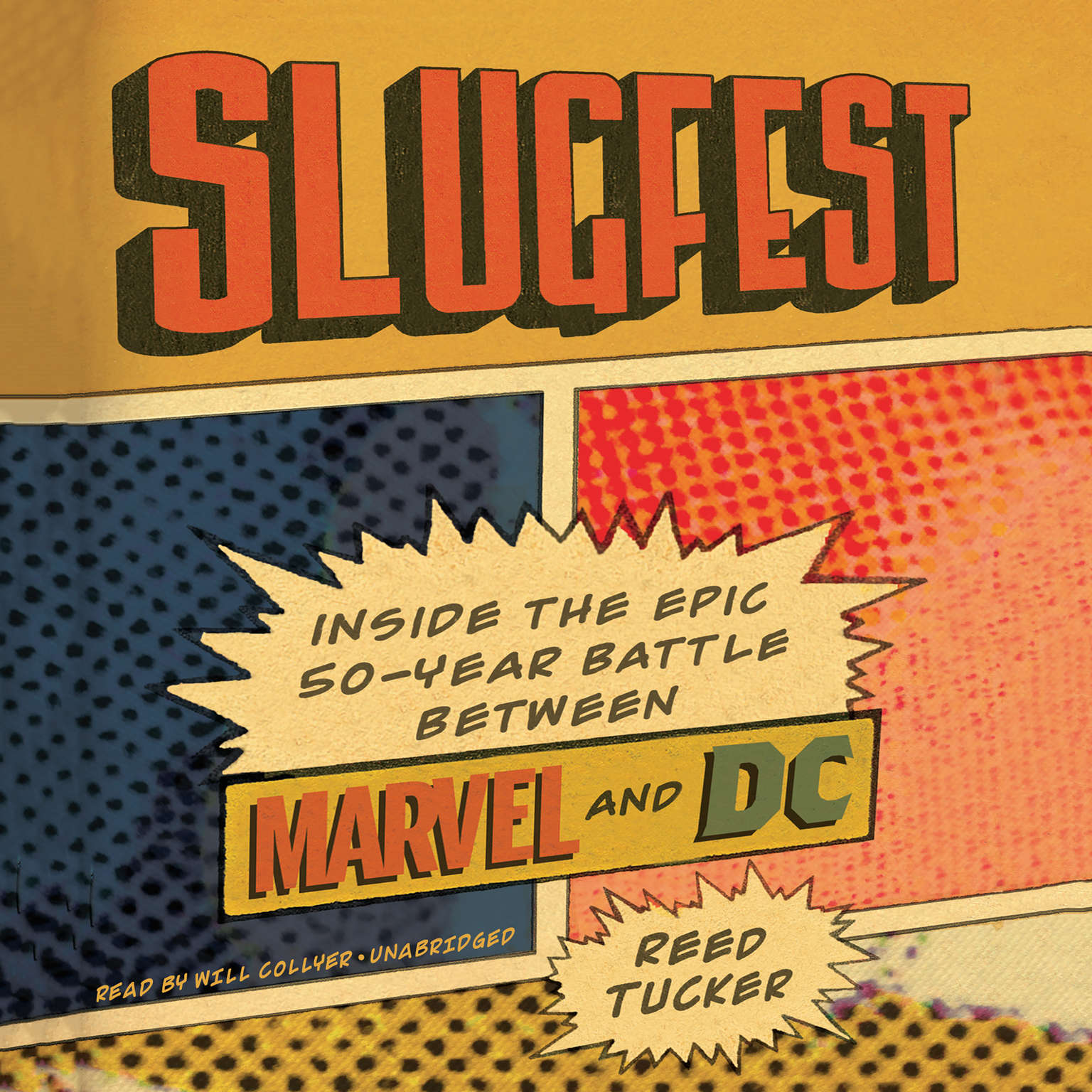 Printable Slugfest: Inside the Epic, 50-year Battle between Marvel and DC Audiobook Cover Art