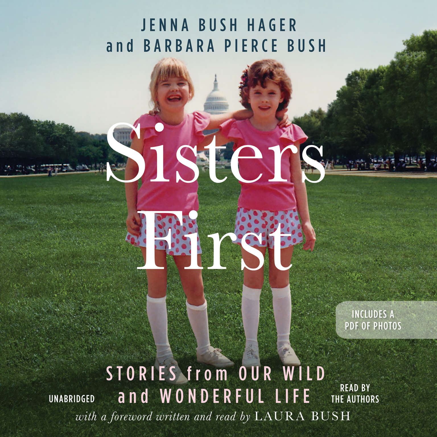 Printable Sisters First: Stories from Our Wild and Wonderful Life Audiobook Cover Art