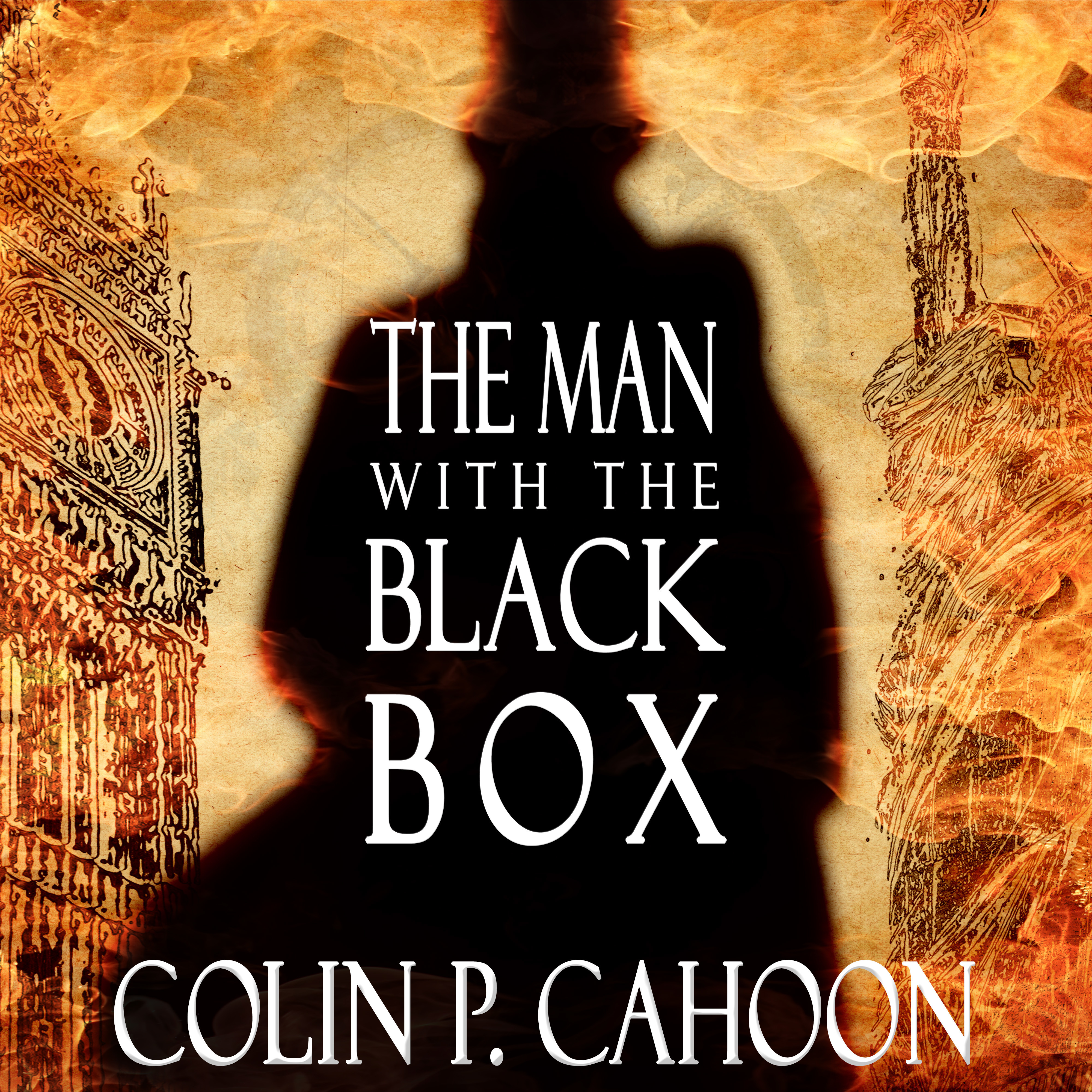 Printable The Man with the Black Box Audiobook Cover Art