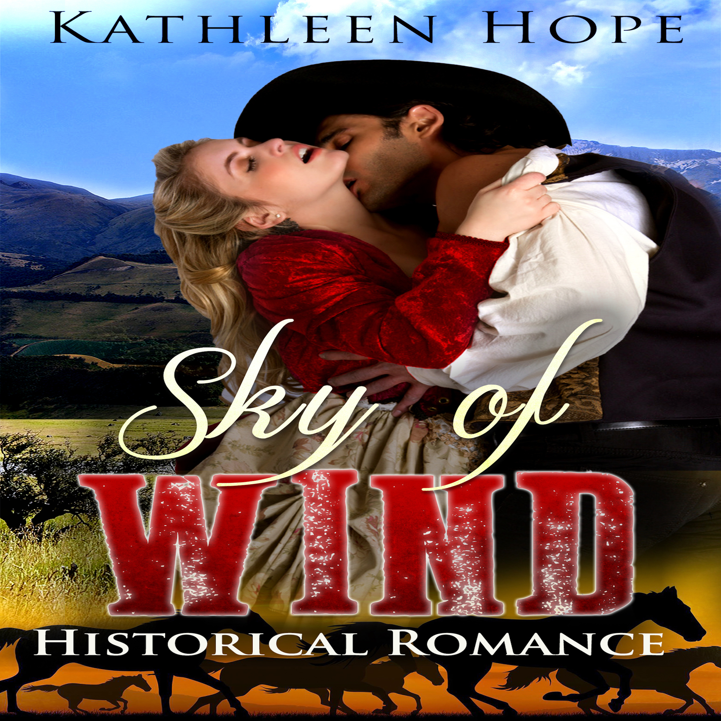 Printable Historical Romance: Sky of Wind Audiobook Cover Art