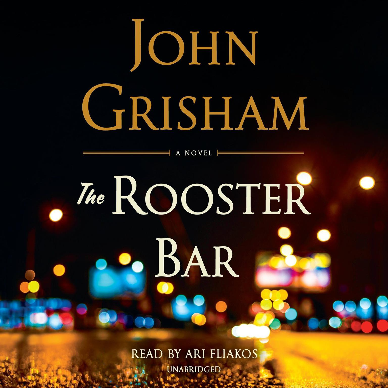 Printable The Rooster Bar Audiobook Cover Art