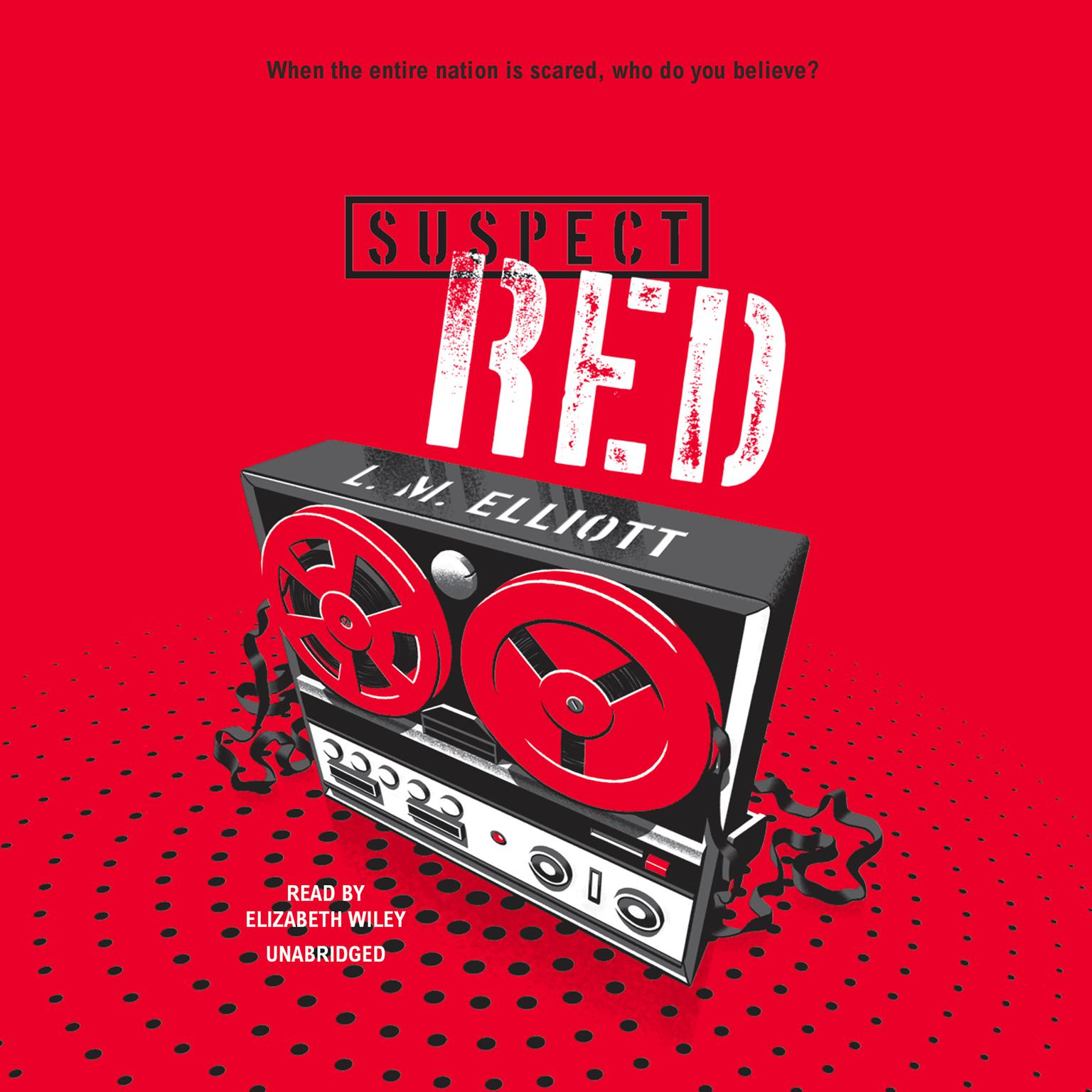 Printable Suspect Red Audiobook Cover Art