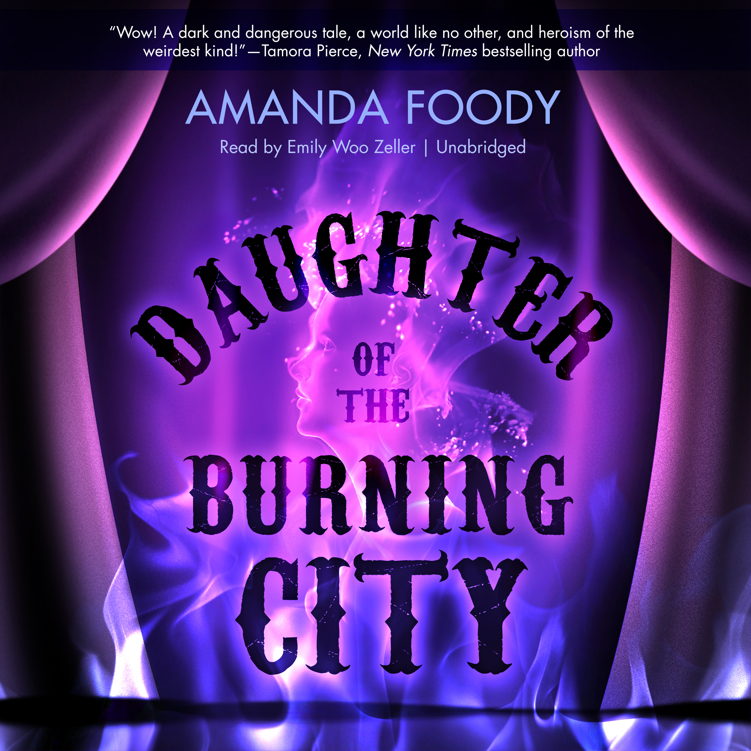 Printable Daughter of the Burning City Audiobook Cover Art