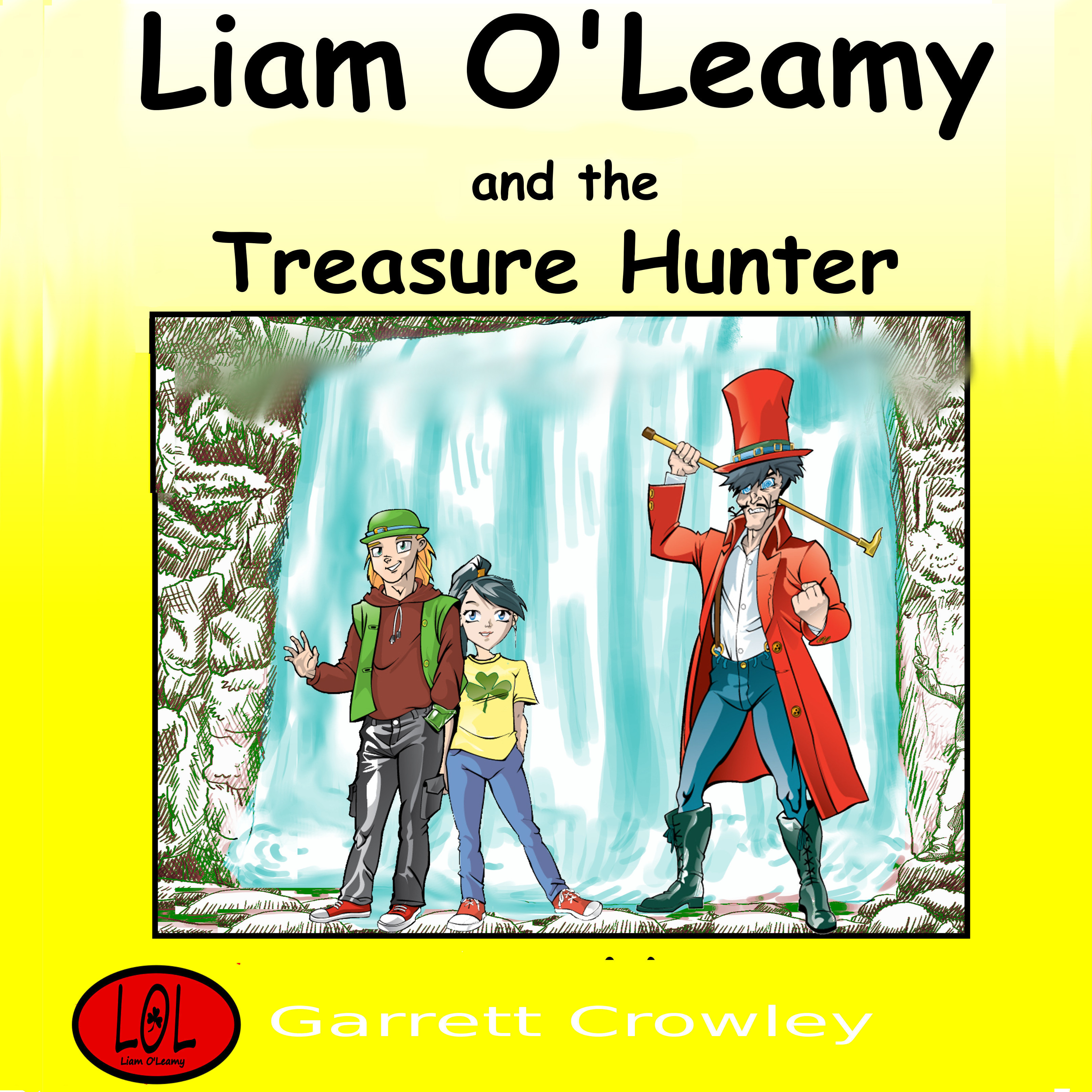 Printable Liam O'Leamy and The Treasure Hunter Audiobook Cover Art