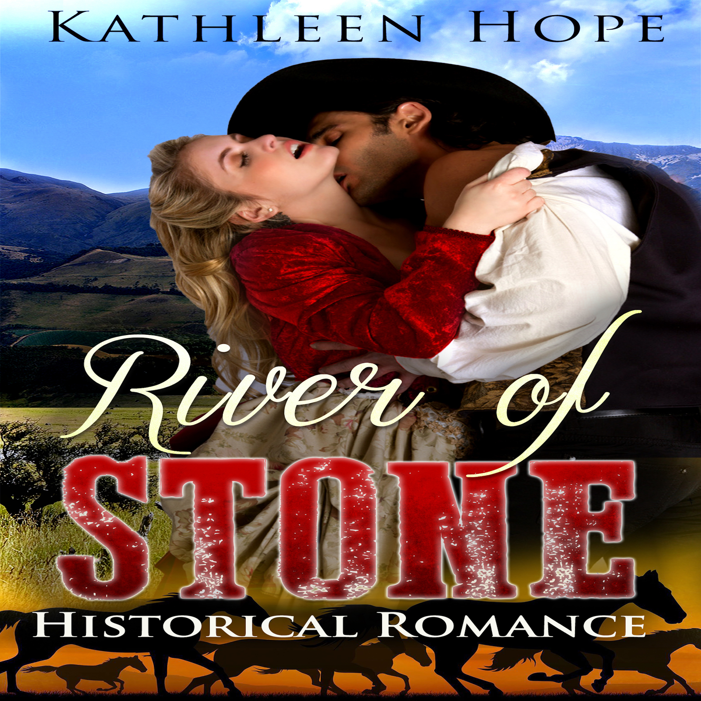 Printable Historical Romance: River of Stone Audiobook Cover Art