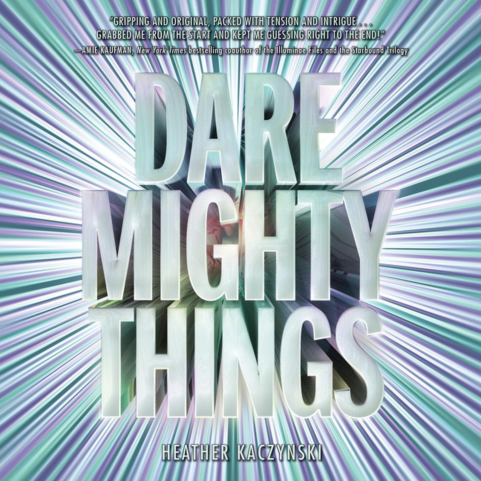 Printable Dare Mighty Things Audiobook Cover Art