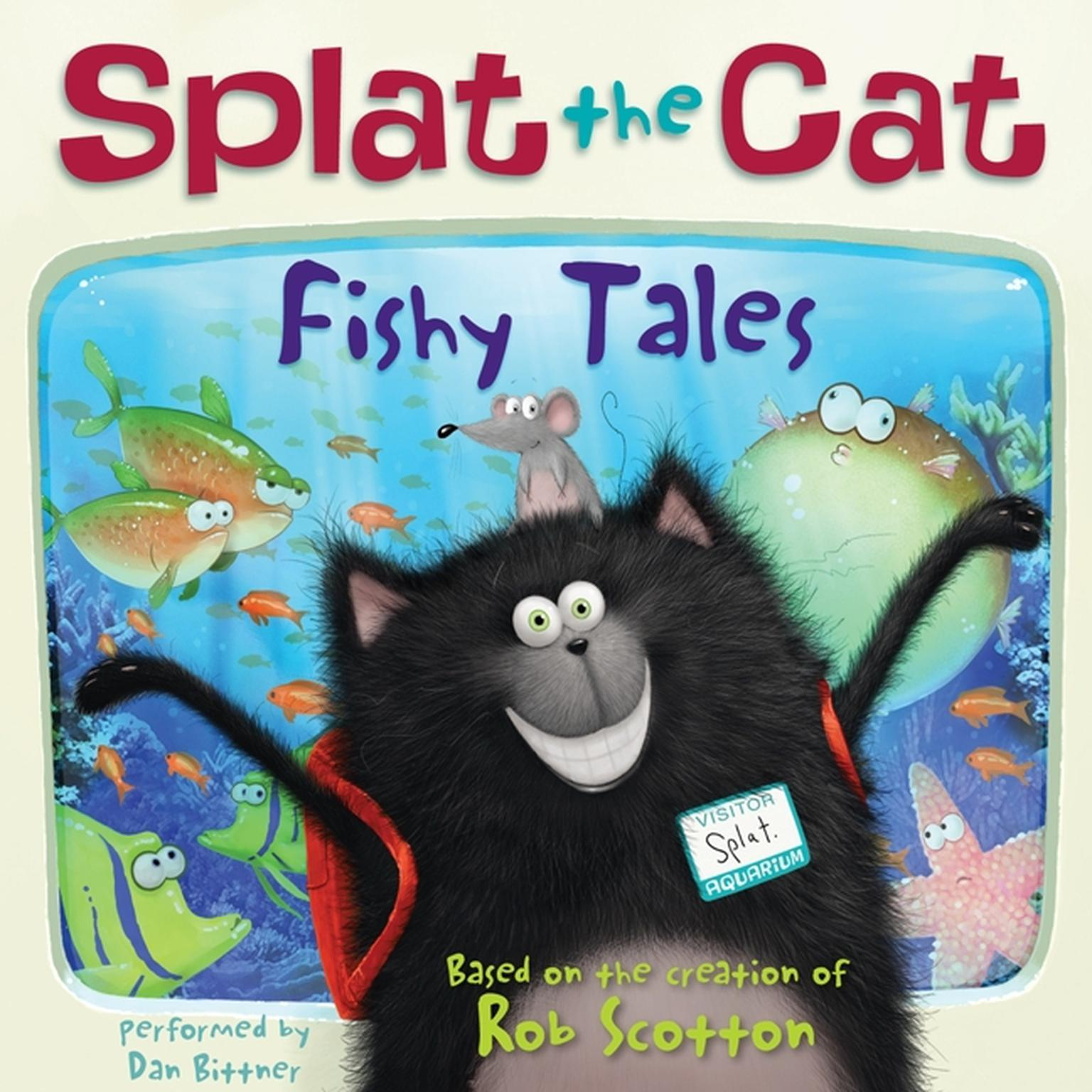 Printable Splat the Cat: Fishy Tales Audiobook Cover Art