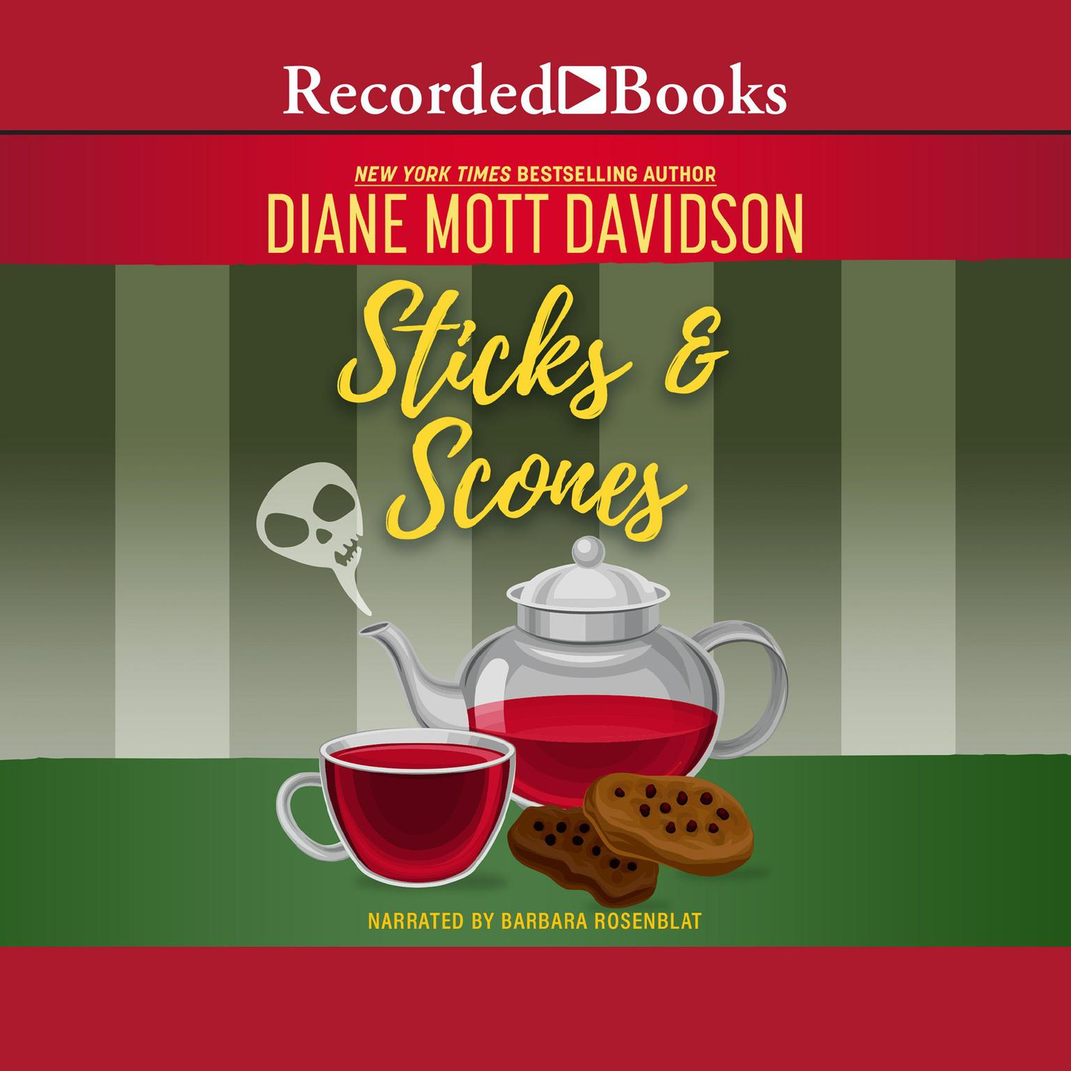 Printable Sticks and Scones Audiobook Cover Art