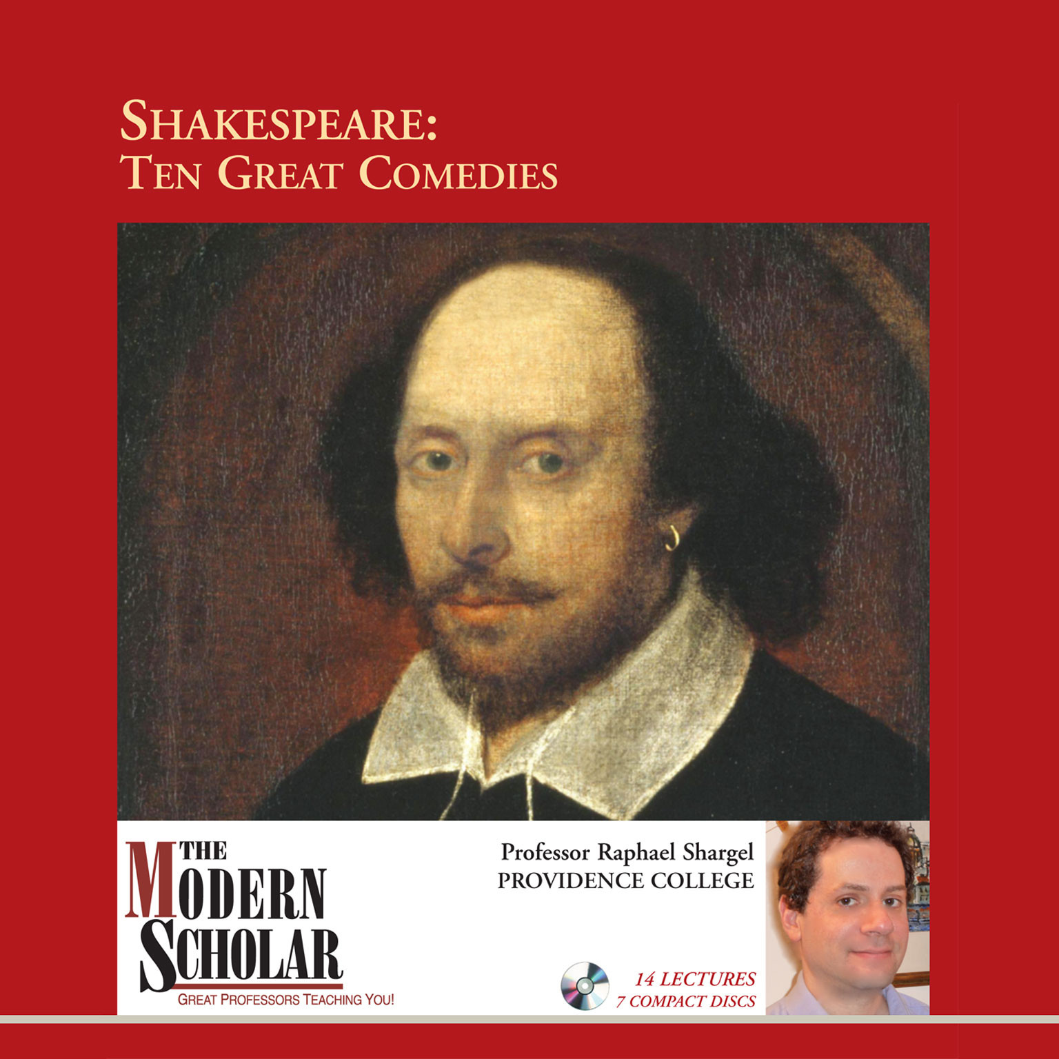 Printable Shakespeare: Ten Great Comedies Audiobook Cover Art