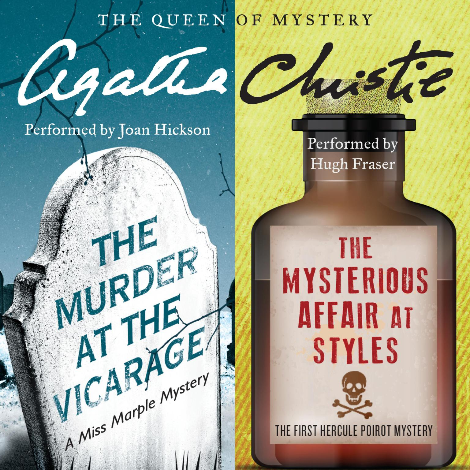 Printable The Murder at the Vicarage & The Mysterious Affair at Styles Audiobook Cover Art