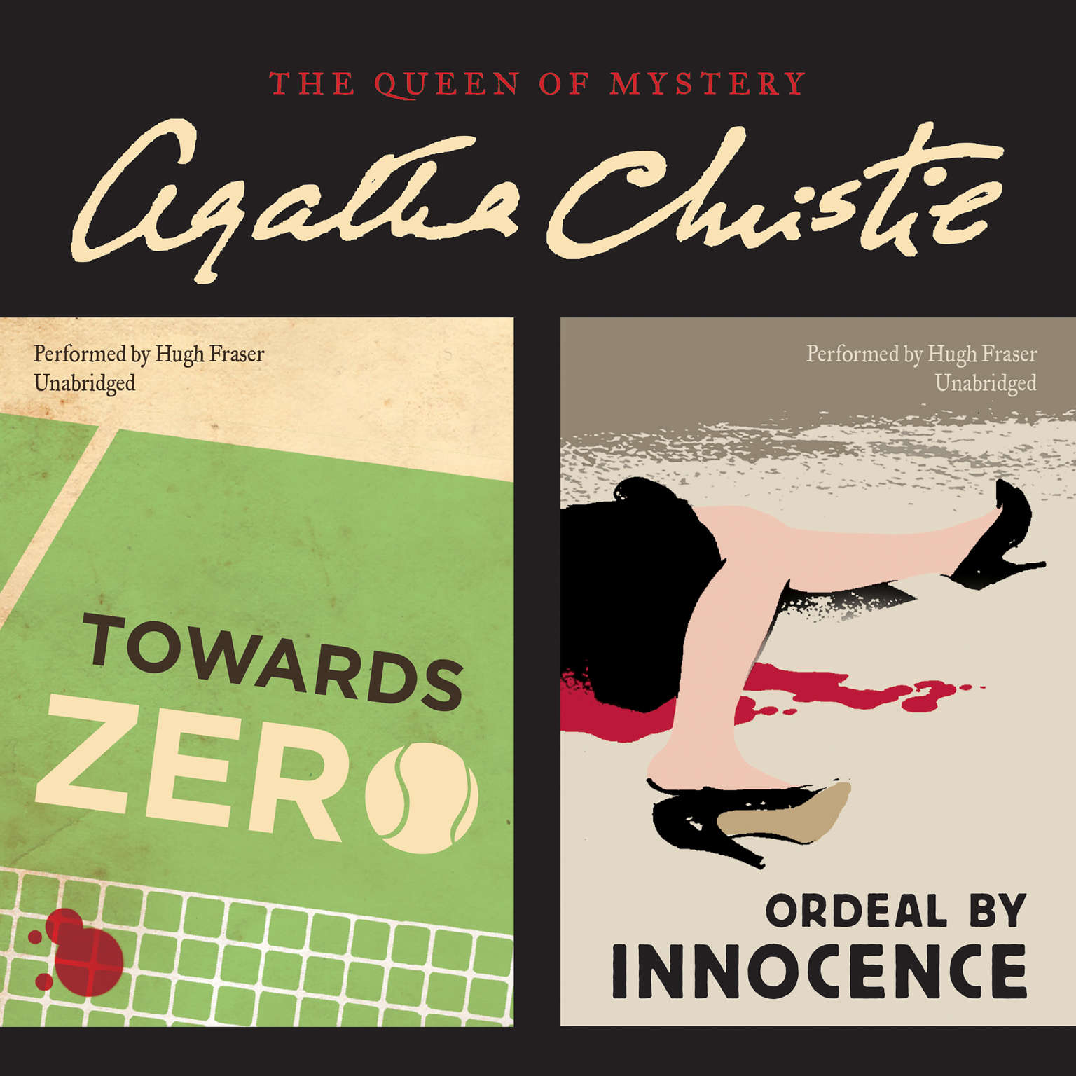 Printable Towards Zero & Ordeal by Innocence Audiobook Cover Art