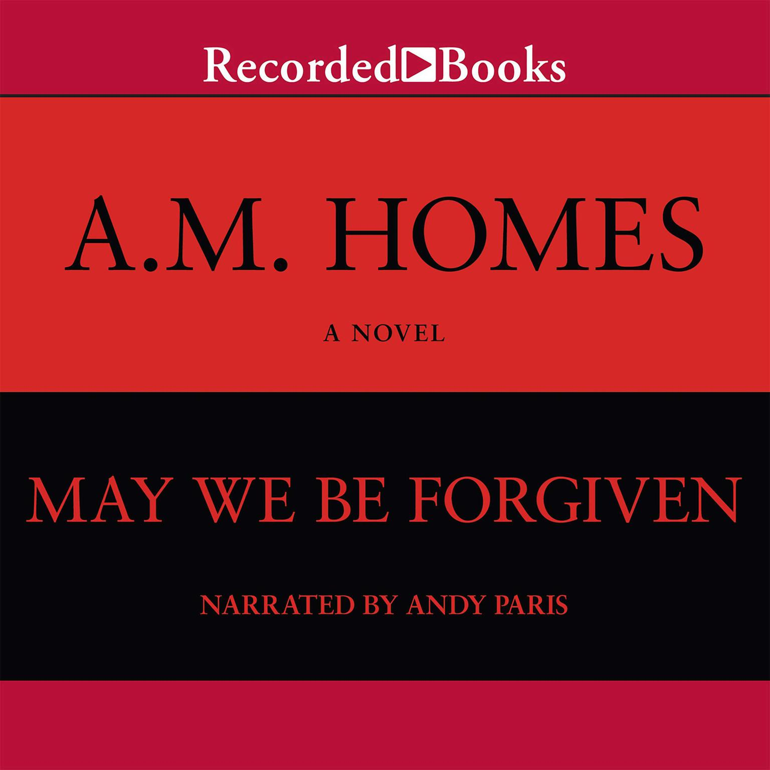 Printable May We Be Forgiven Audiobook Cover Art