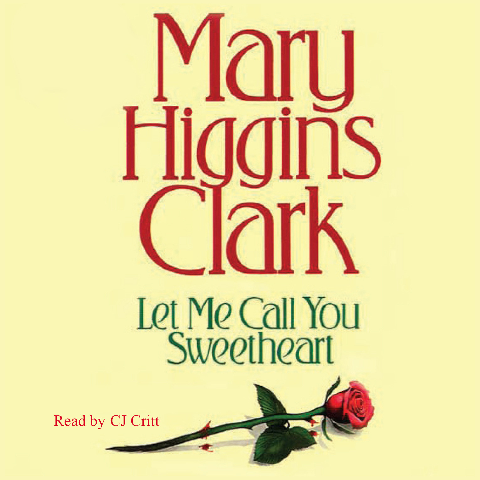 Printable Let Me Call You Sweetheart Audiobook Cover Art