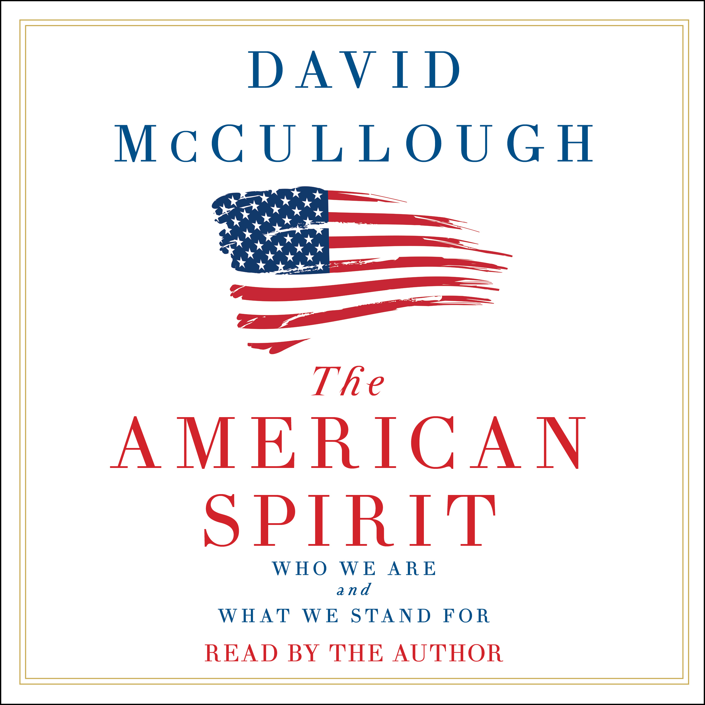 Printable The American Spirit Audiobook Cover Art