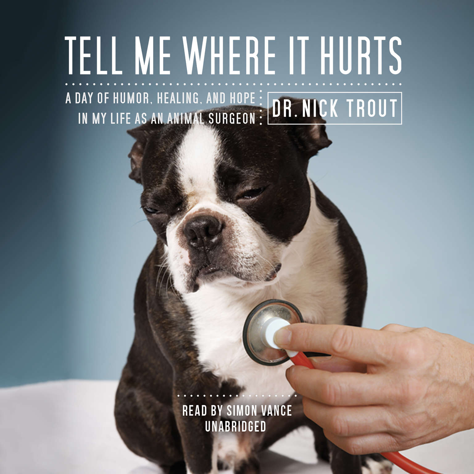 Printable Tell Me Where It Hurts: A Day of Humor, Healing, and Hope in My Life as an Animal Surgeon Audiobook Cover Art