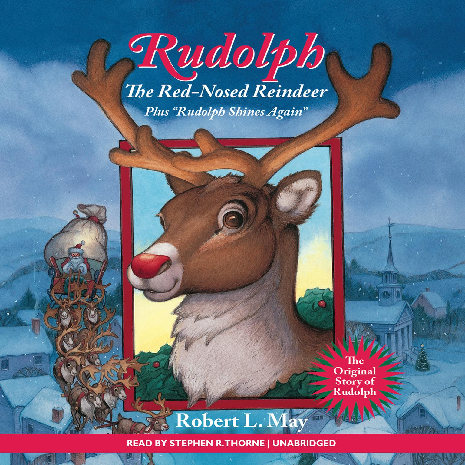 Printable Rudolph the Red-Nosed Reindeer Audiobook Cover Art