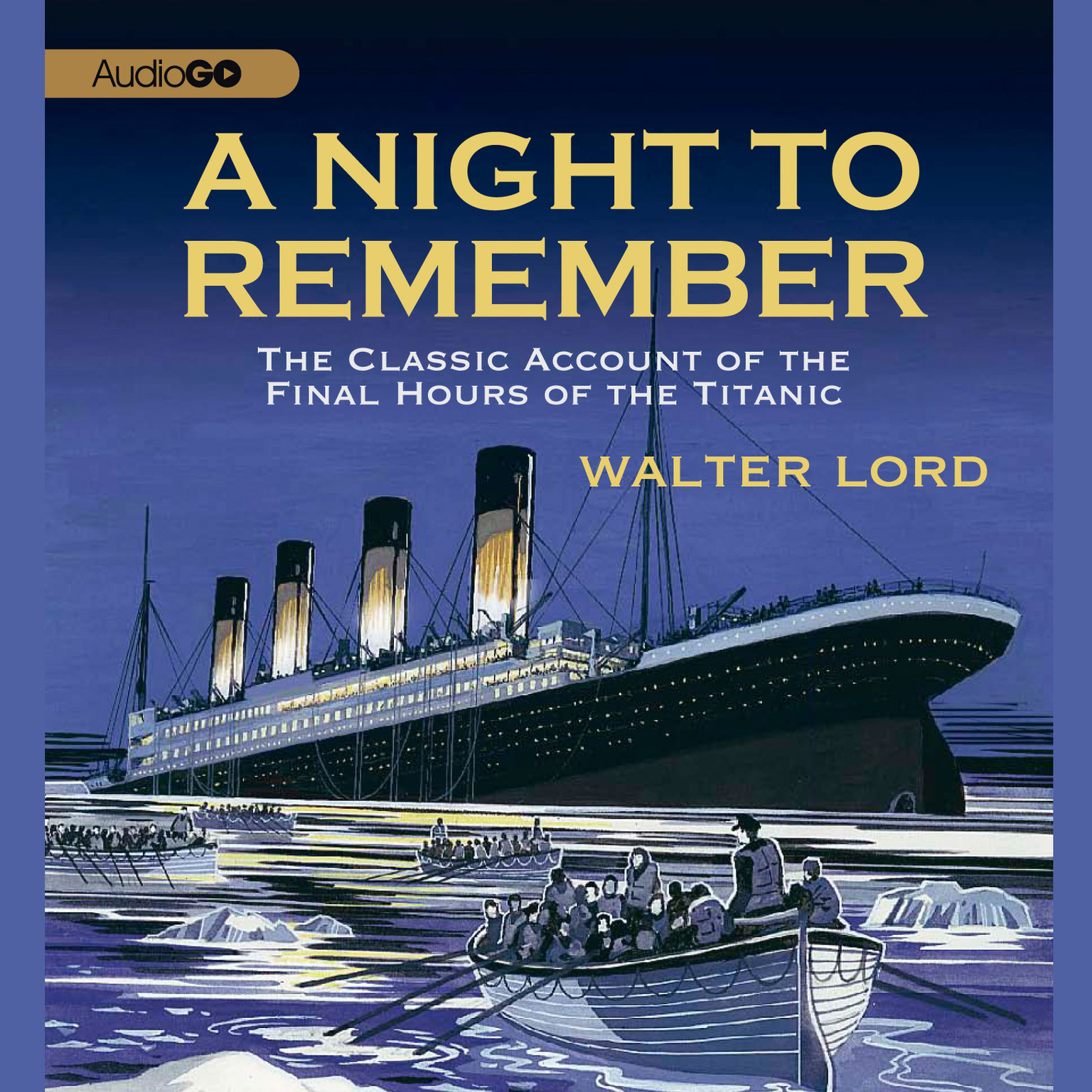 Printable A Night to Remember: The Classic Account of the Final Hours of the Titanic Audiobook Cover Art