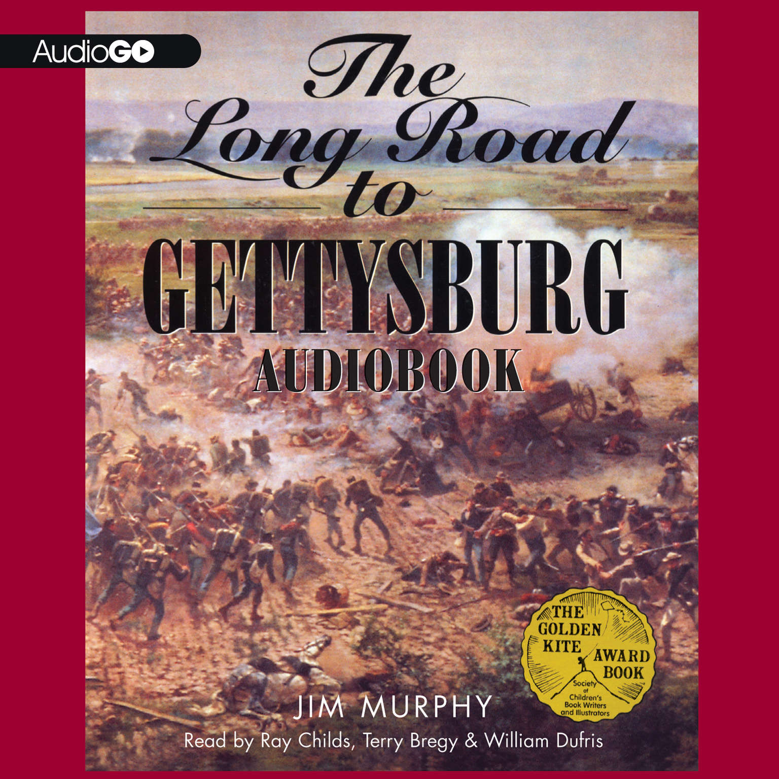 Printable The Long Road to Gettysburg Audiobook Cover Art