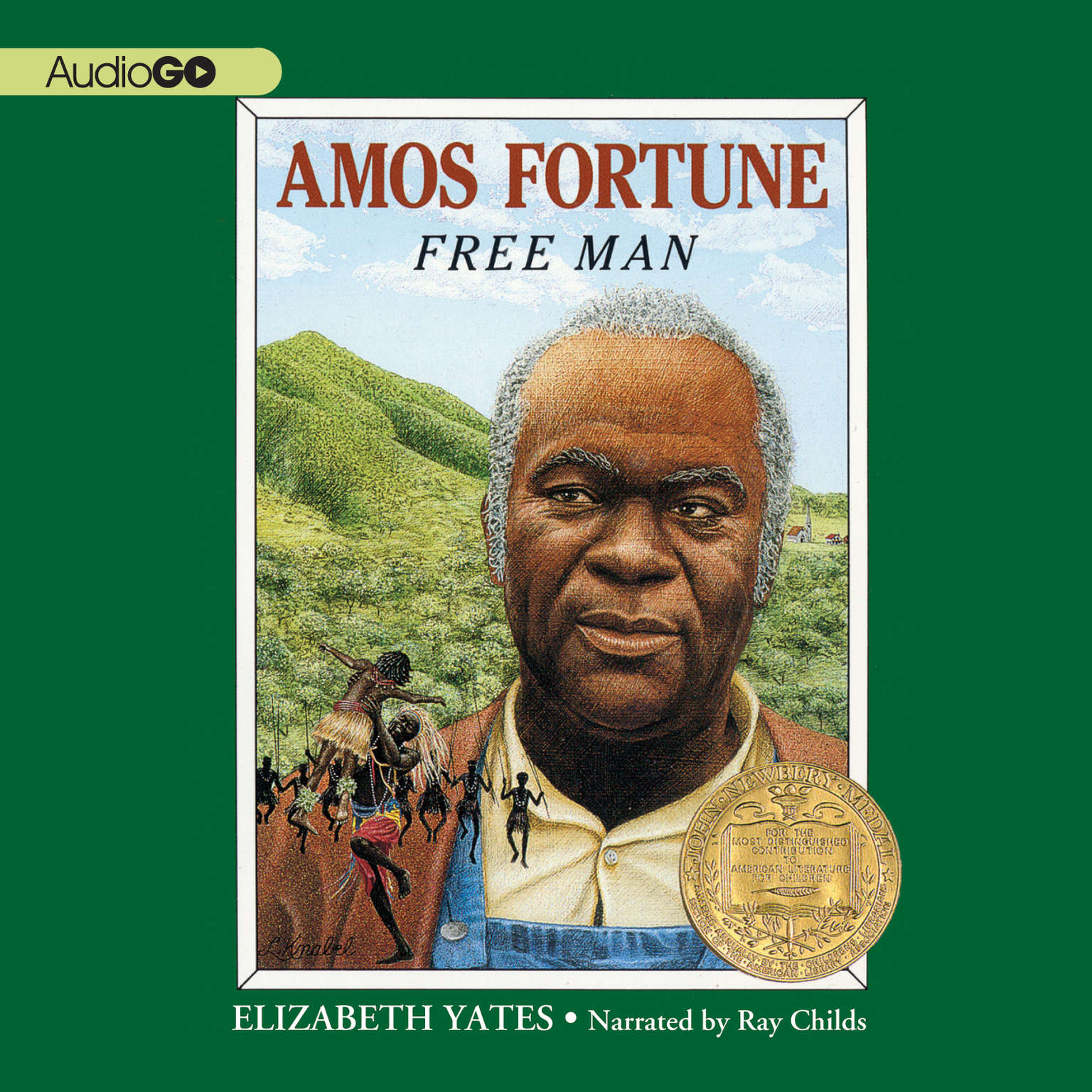 Printable Amos Fortune: Free Man Audiobook Cover Art