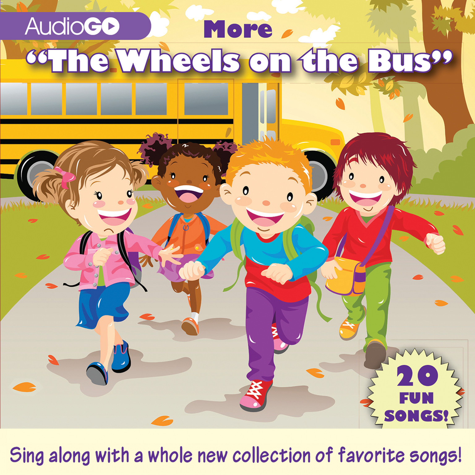 "Printable More ""The Wheels on the Bus"": 20 Fun Songs! Audiobook Cover Art"