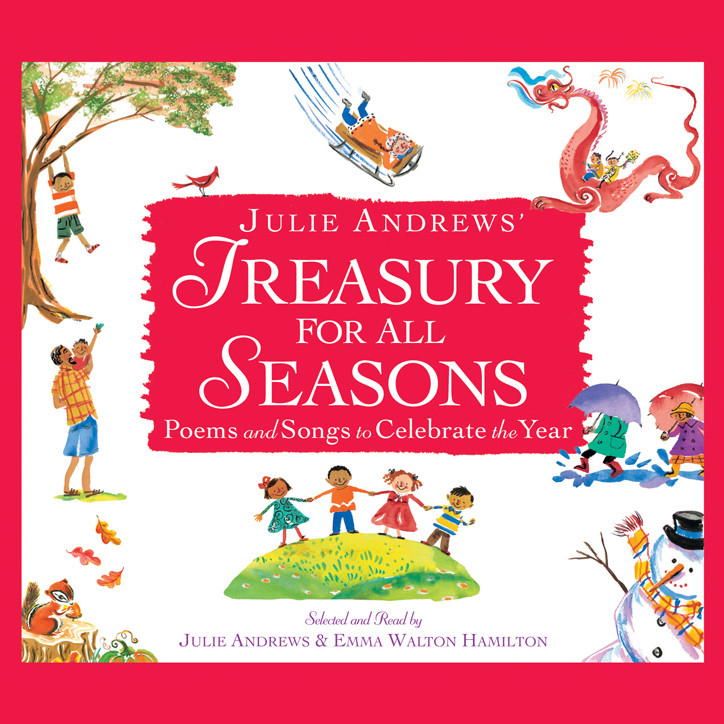 Printable Julie Andrews' Treasury for All Seasons: Poems and Songs to Celebrate the Year Audiobook Cover Art