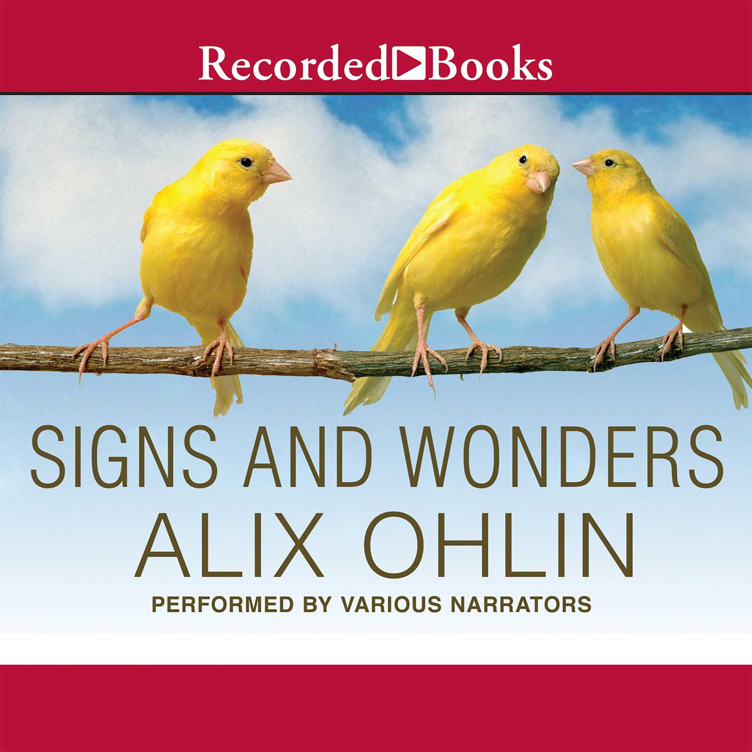 Printable Signs and Wonders Audiobook Cover Art