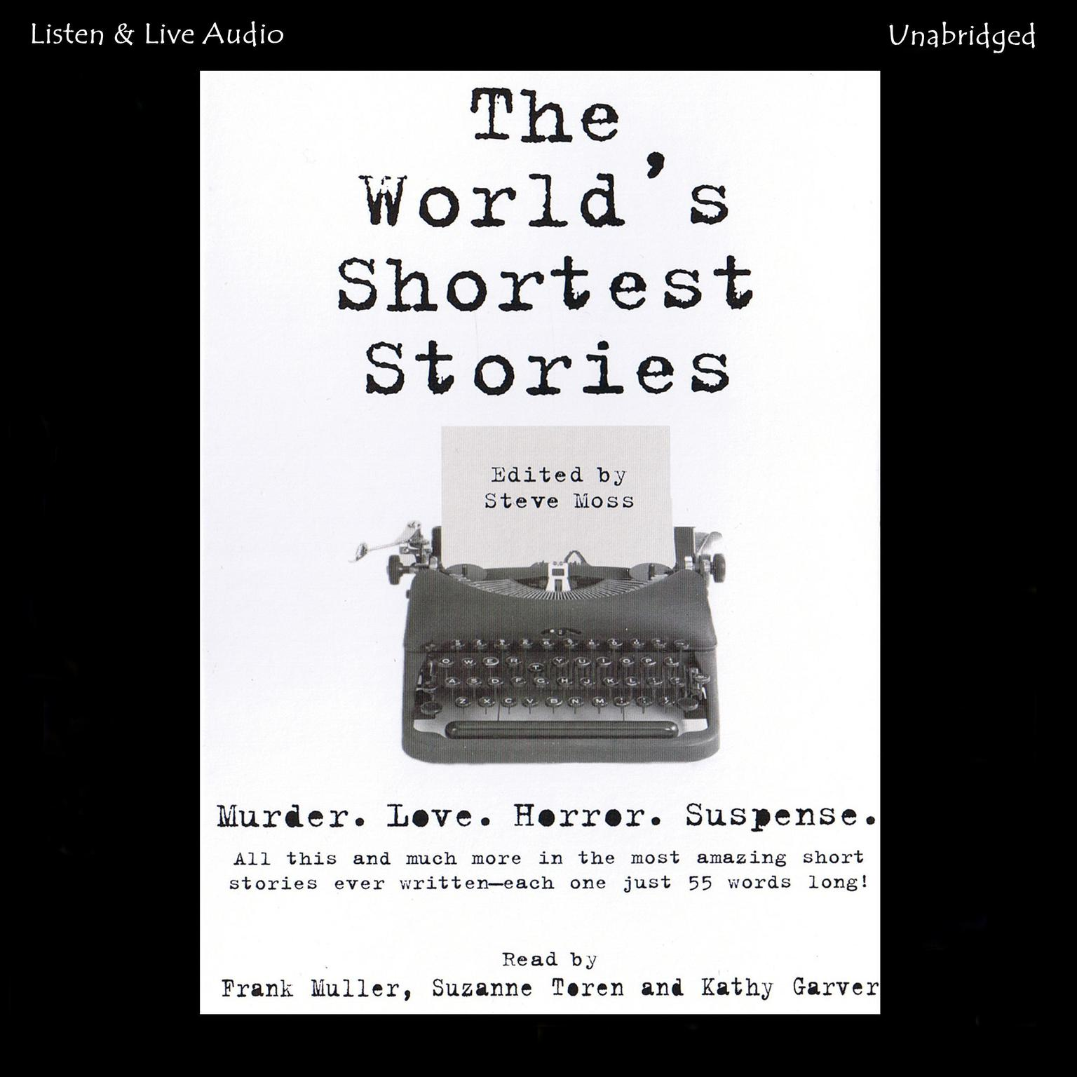 Printable The World's Shortest Stories Audiobook Cover Art