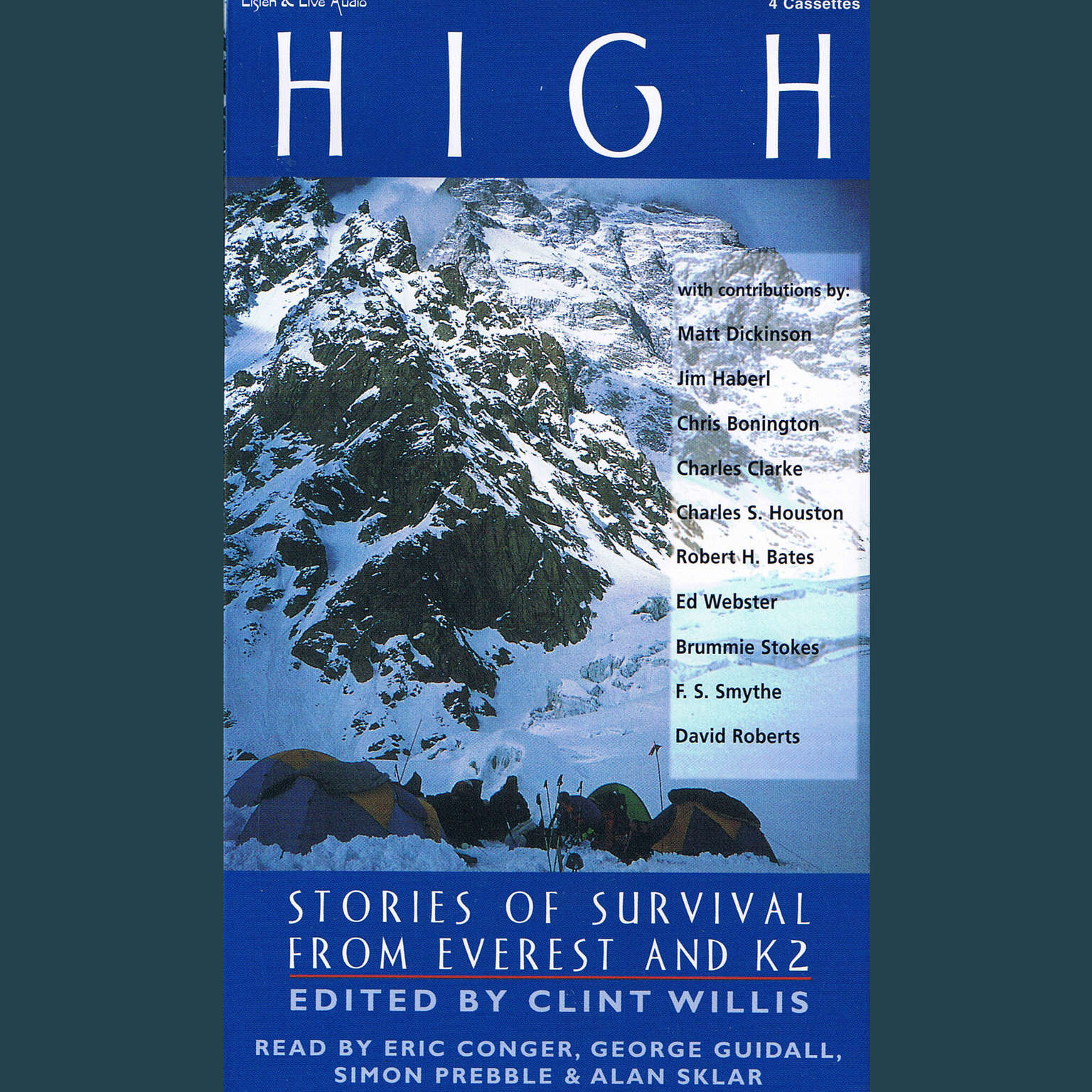 Printable High: Stories of Suvival from Everest and K2 Audiobook Cover Art