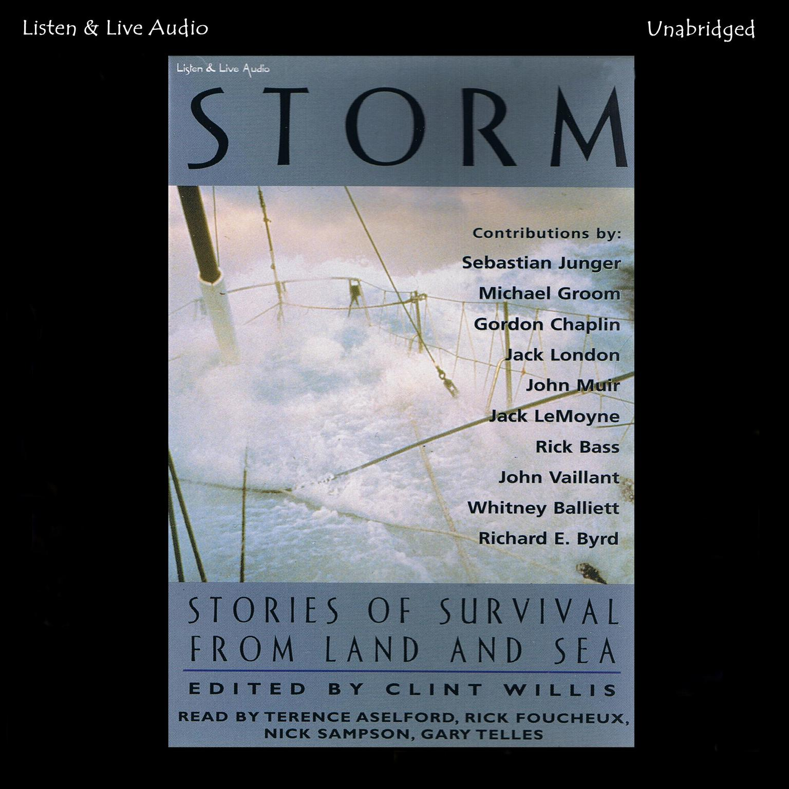 Printable Storm: Stories of Survival from Land and Sea Audiobook Cover Art