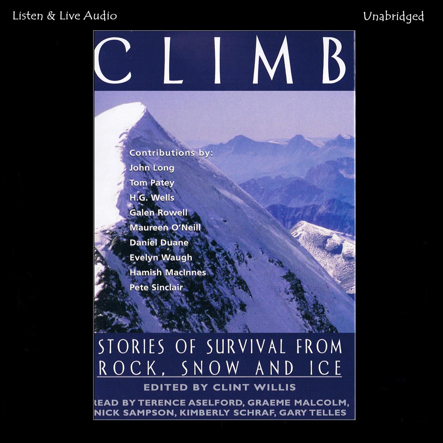 Printable Climb: Stories of Survival from Rock, Snow, and Ice Audiobook Cover Art