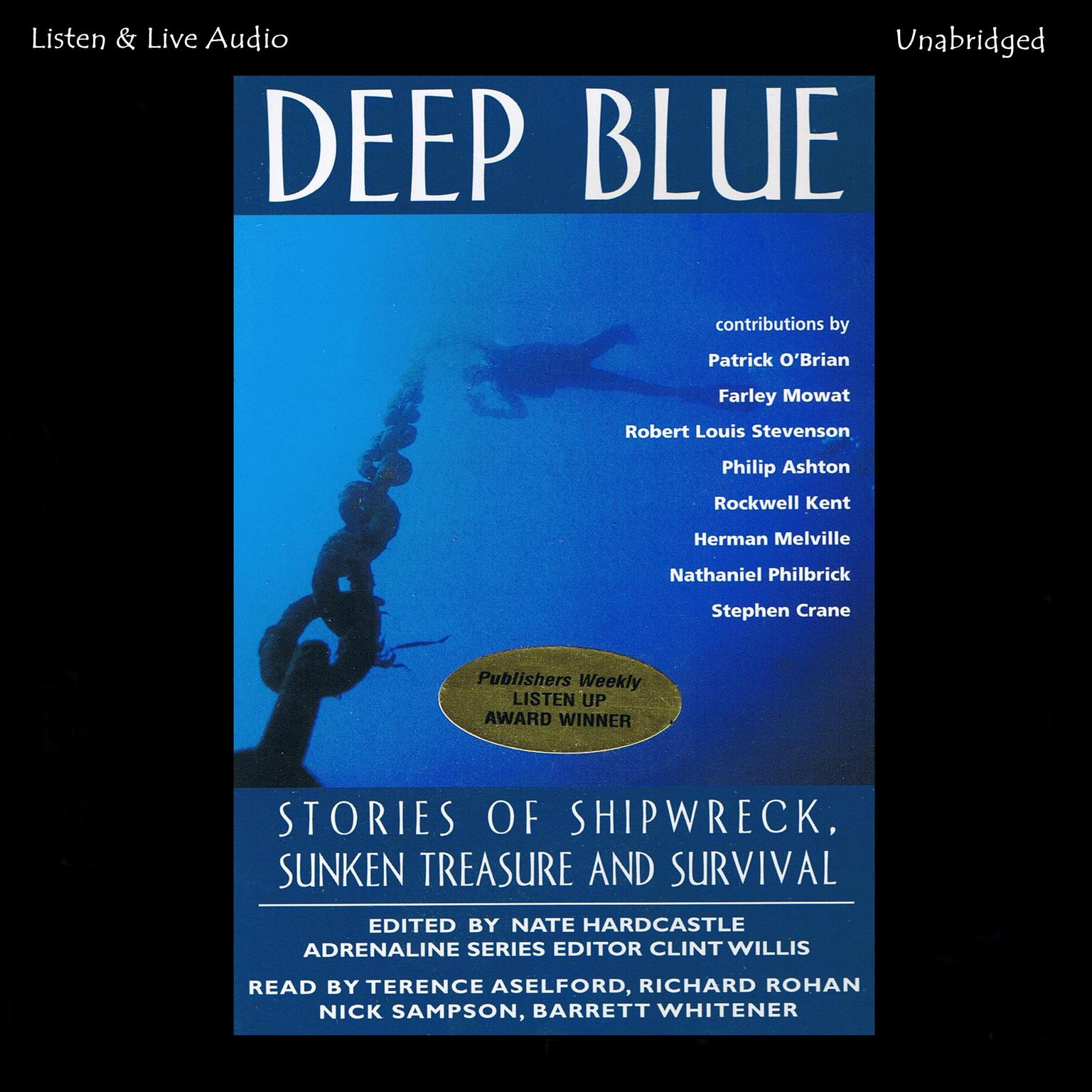 Printable Deep Blue: Stories of Shipwreck, Sunken Treasure, and Survival Audiobook Cover Art