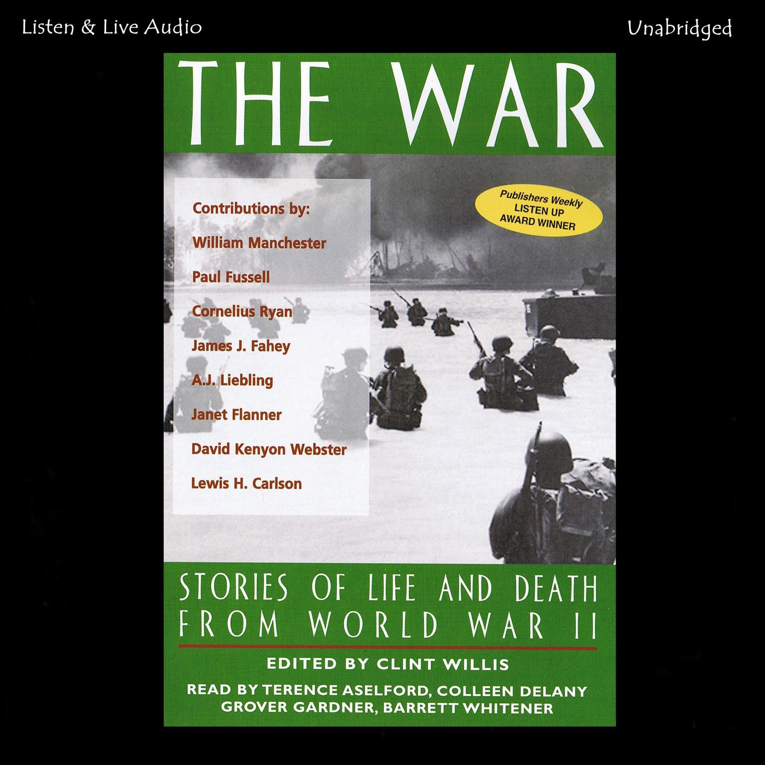 Printable The War: Stories of Life and Death From World War II Audiobook Cover Art