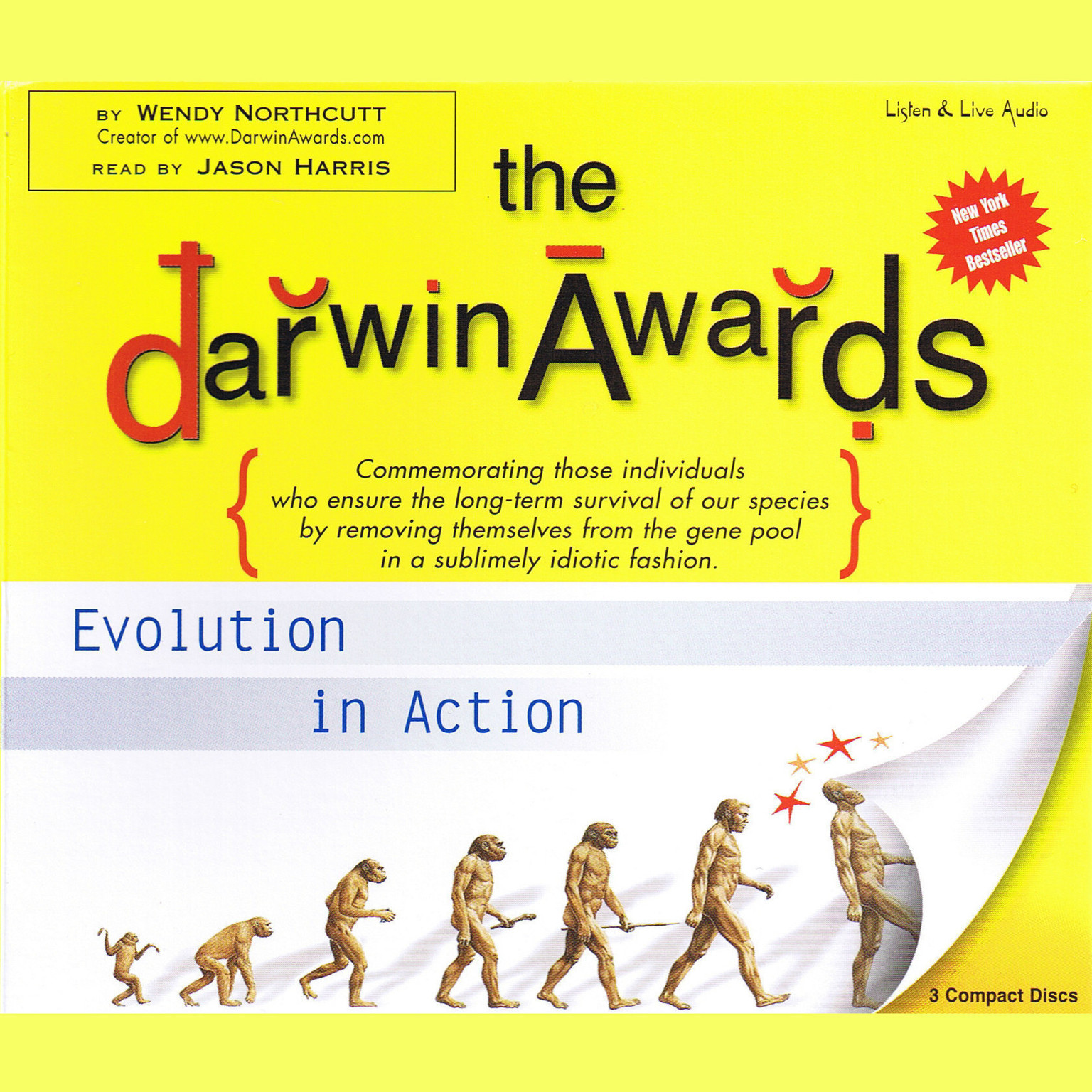 Printable The Darwin Awards: Evolution in Action Audiobook Cover Art