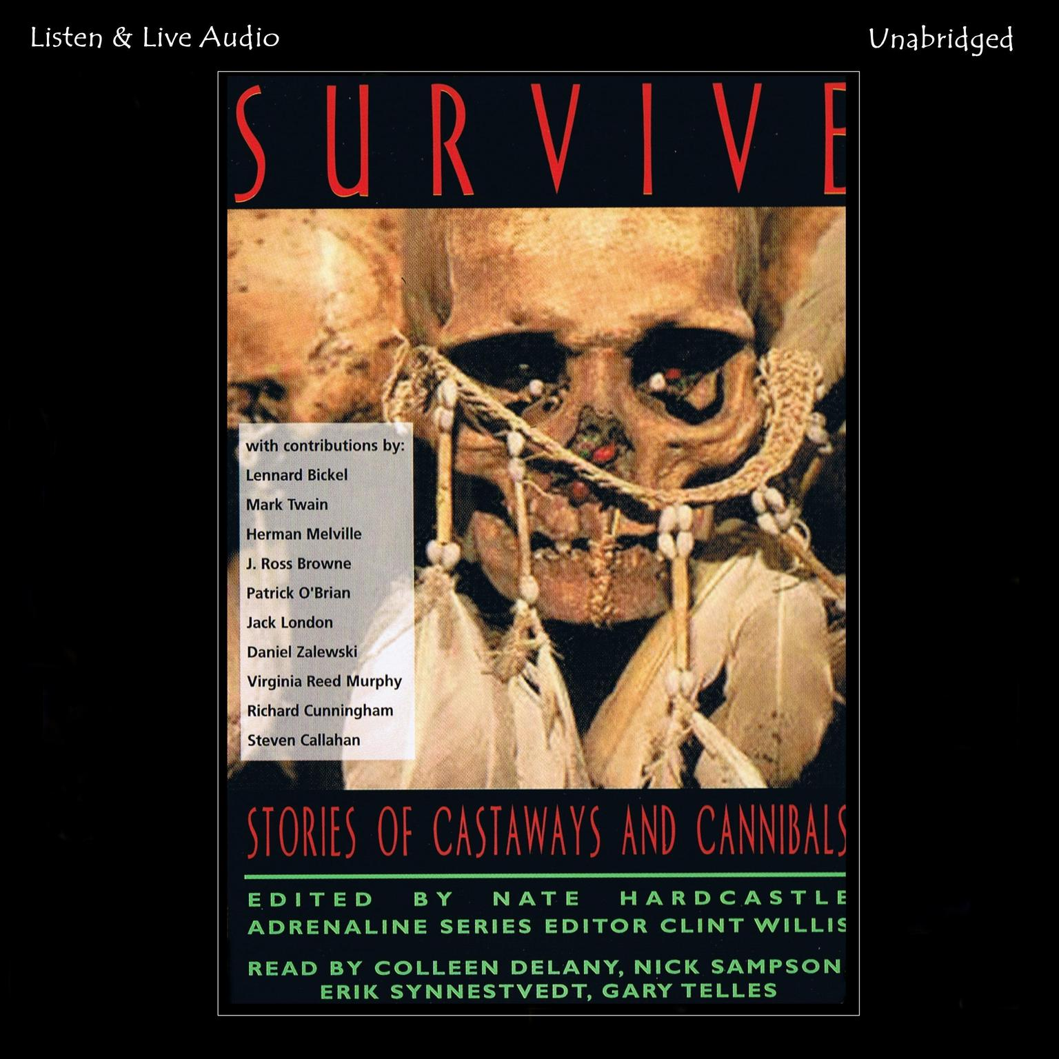 Printable Survive: Stories of Castaways and Cannibals Audiobook Cover Art