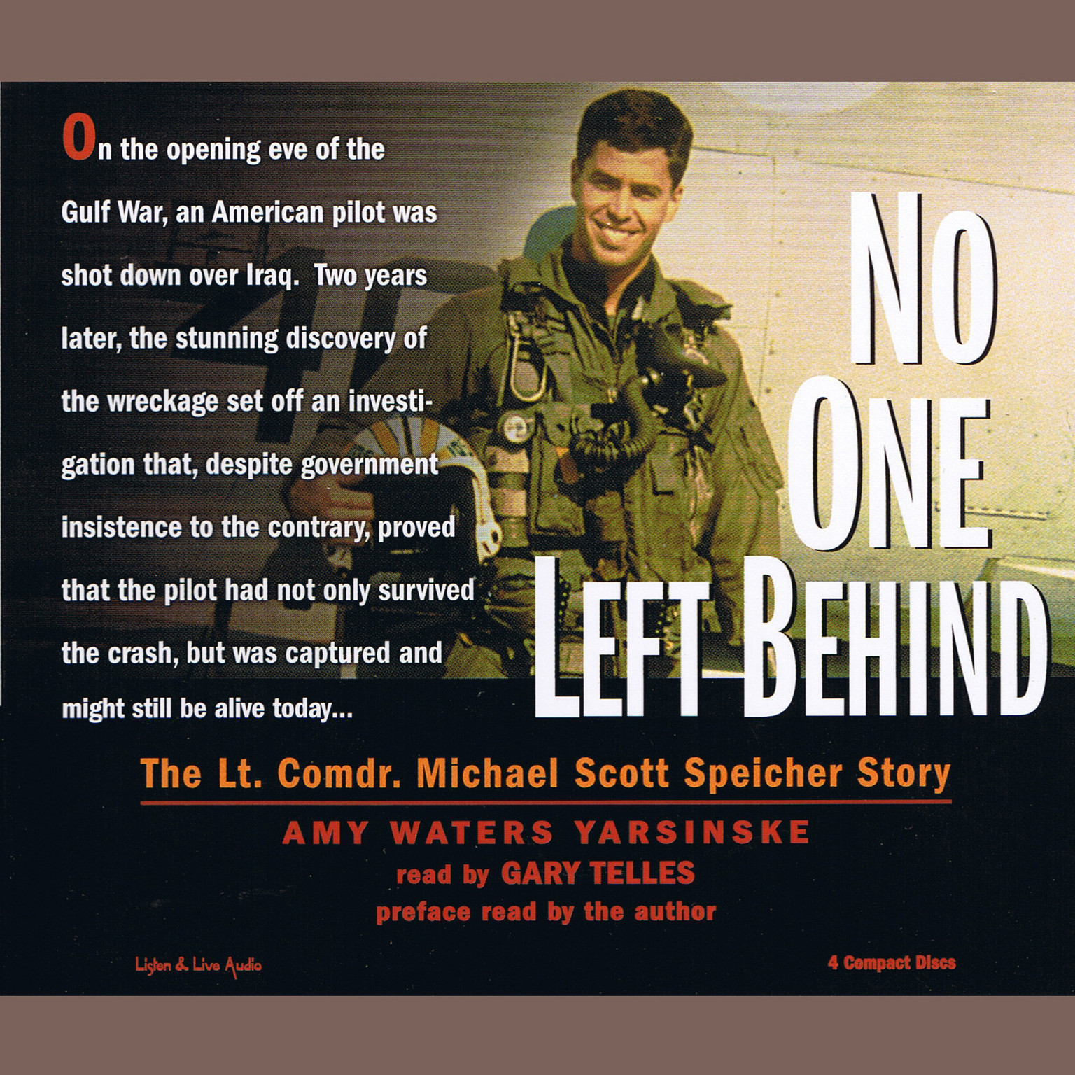 Printable No One Left Behind: The Lt. Comdr. Michael Scott Speicher Story Audiobook Cover Art