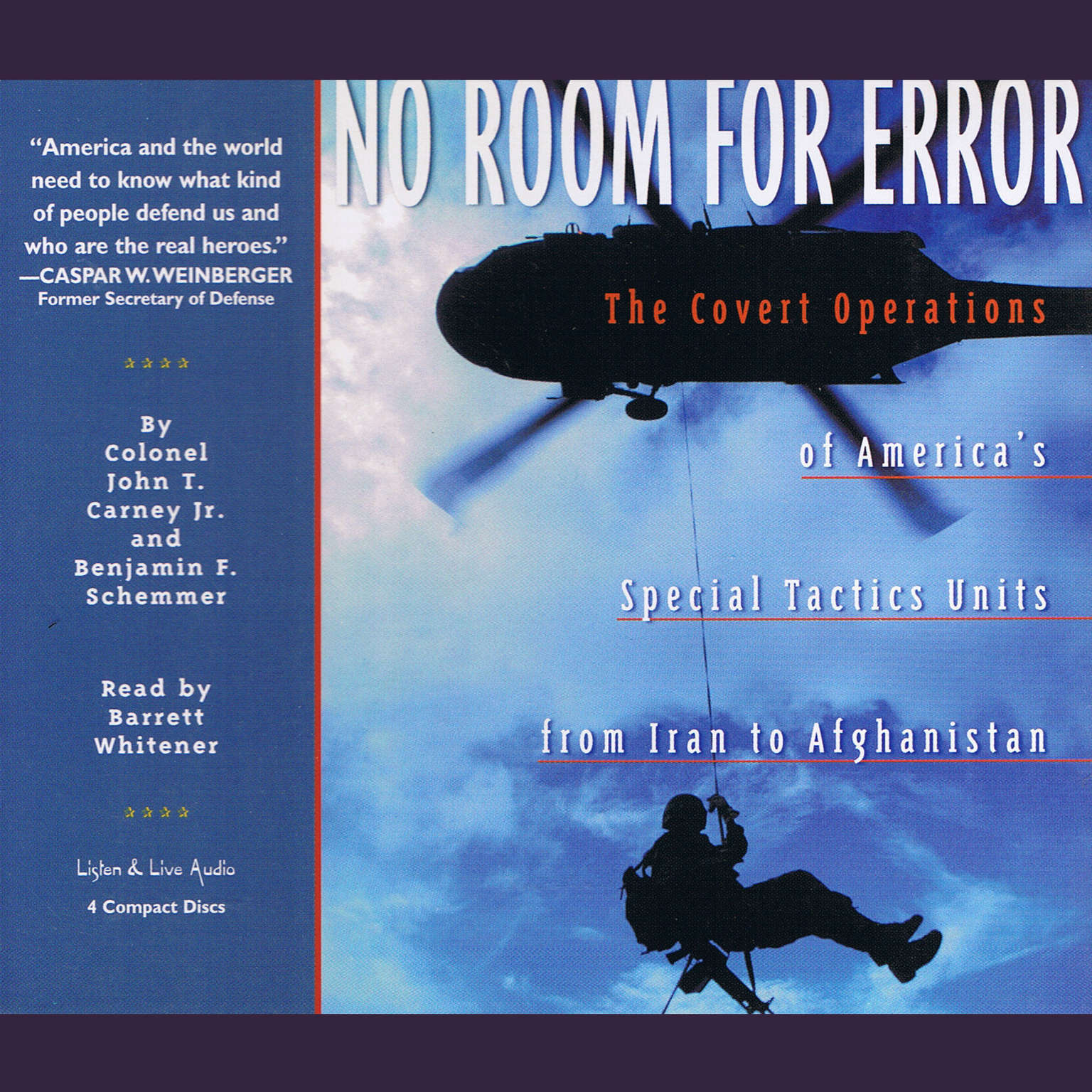 Printable No Room For Error: The Covert Operations of America's Special Tactics Units From Iran to Afghanistan Audiobook Cover Art