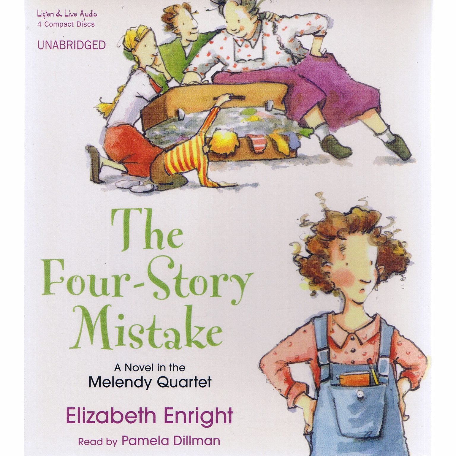 Printable The Four-Story Mistake Audiobook Cover Art