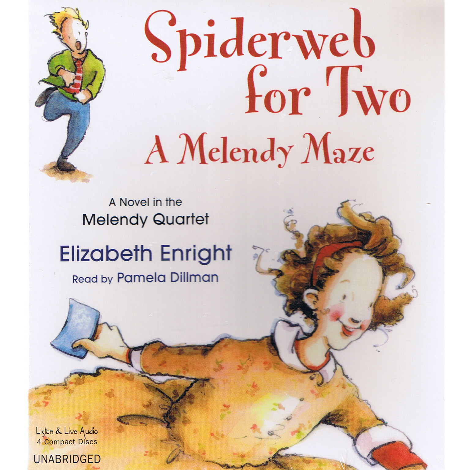 Printable Spiderweb for Two: A Melendy Maze Audiobook Cover Art