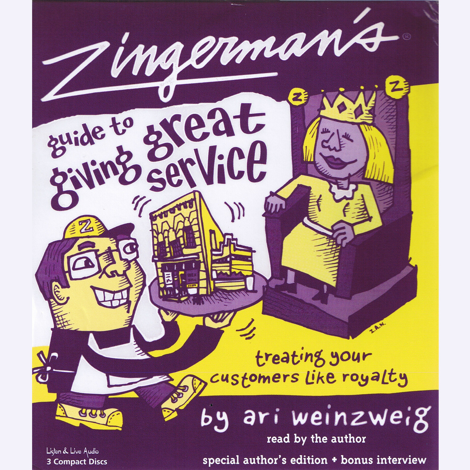 Printable Zingerman's Guide to Giving Great Service Audiobook Cover Art