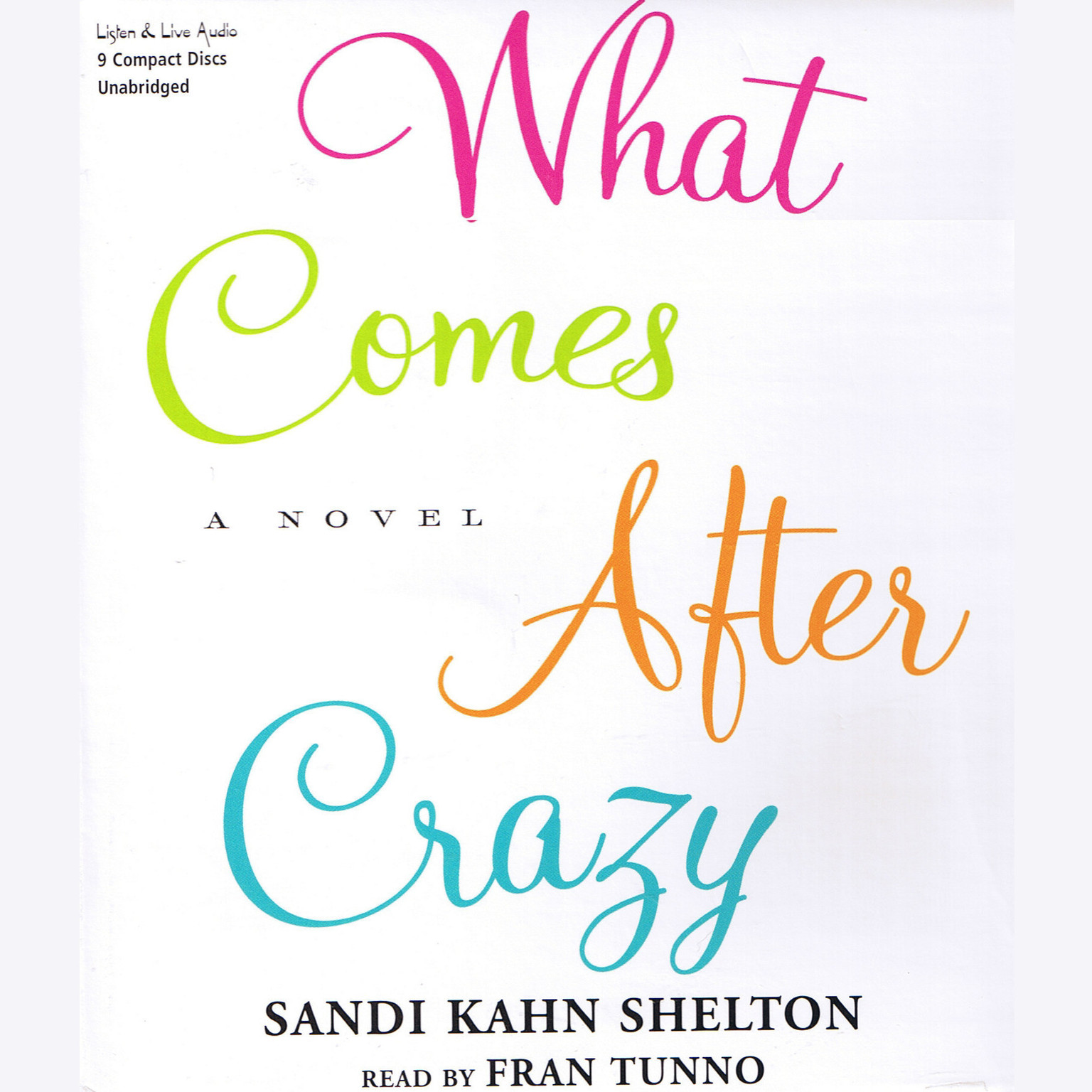 Printable What Comes after Crazy Audiobook Cover Art