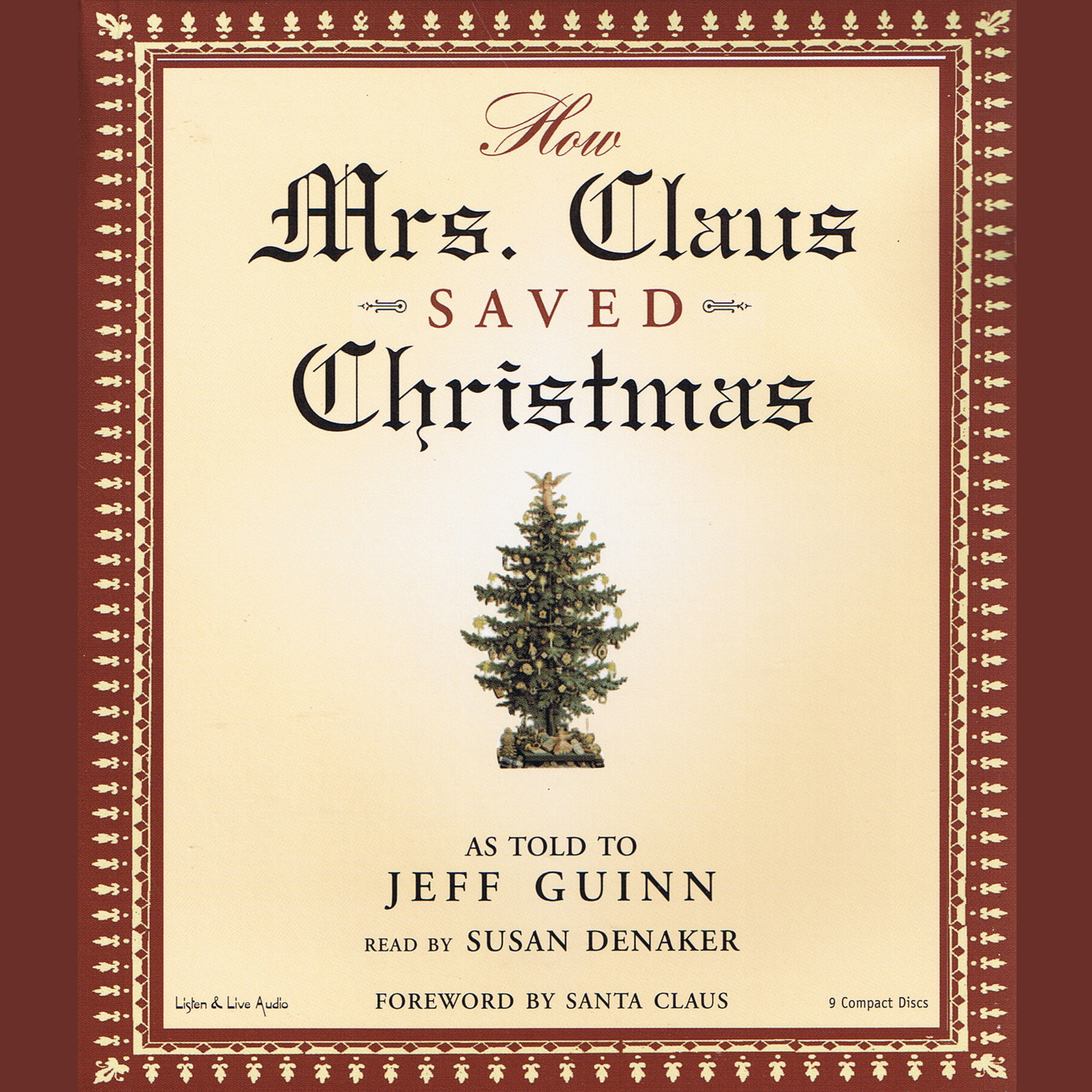 Printable How Mrs. Claus Saved Christmas Audiobook Cover Art