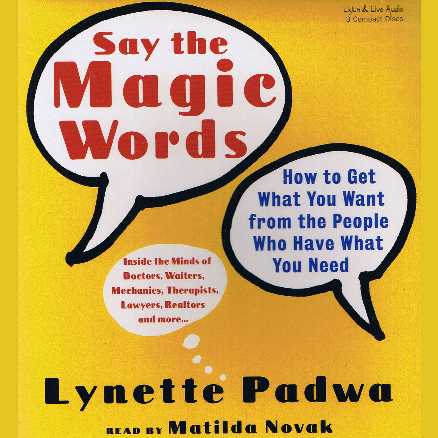 Printable Say the Magic Words: How to Get What You Want from the People Who Have What You Need Audiobook Cover Art