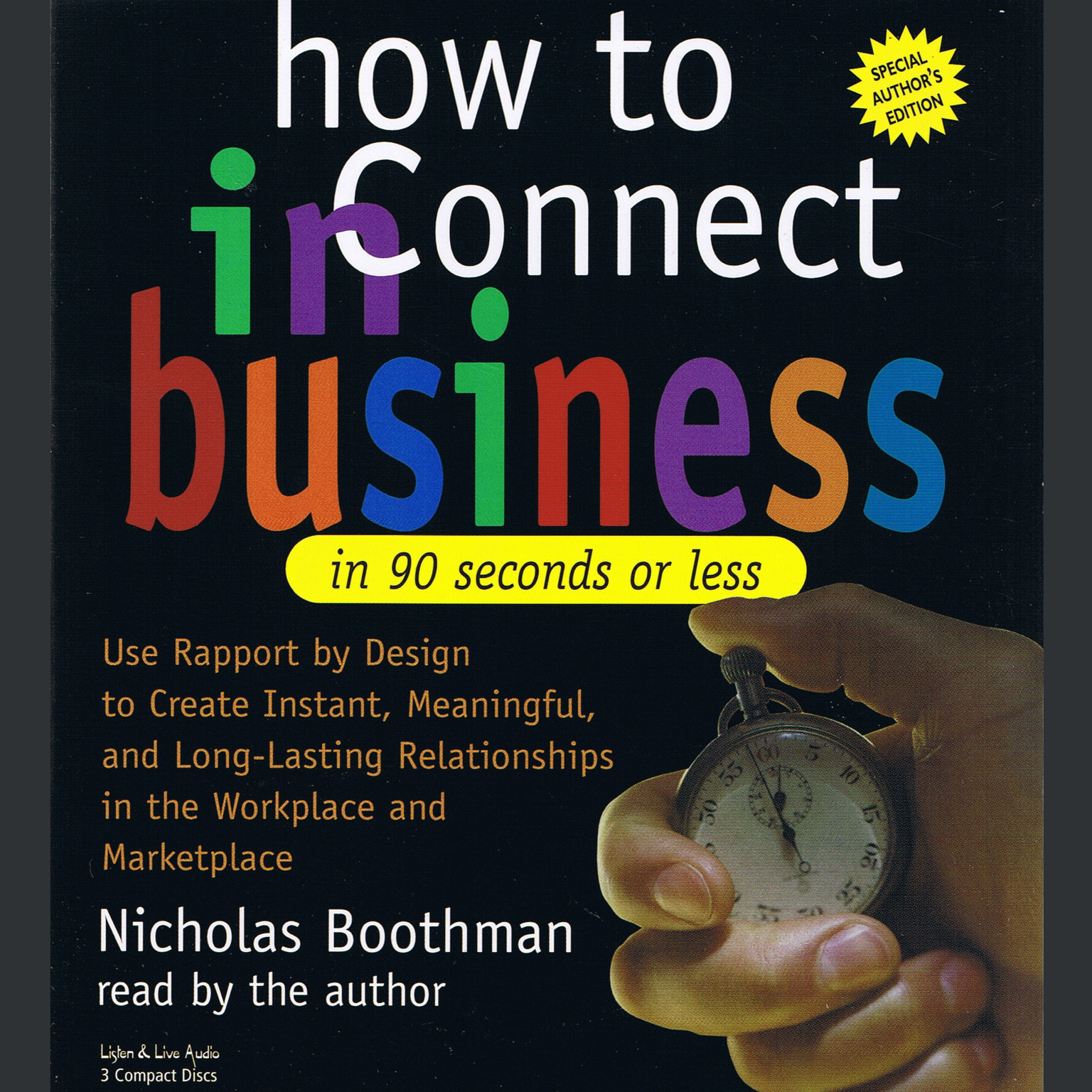 Printable How to Connect in Business in 90 Seconds or Less Audiobook Cover Art