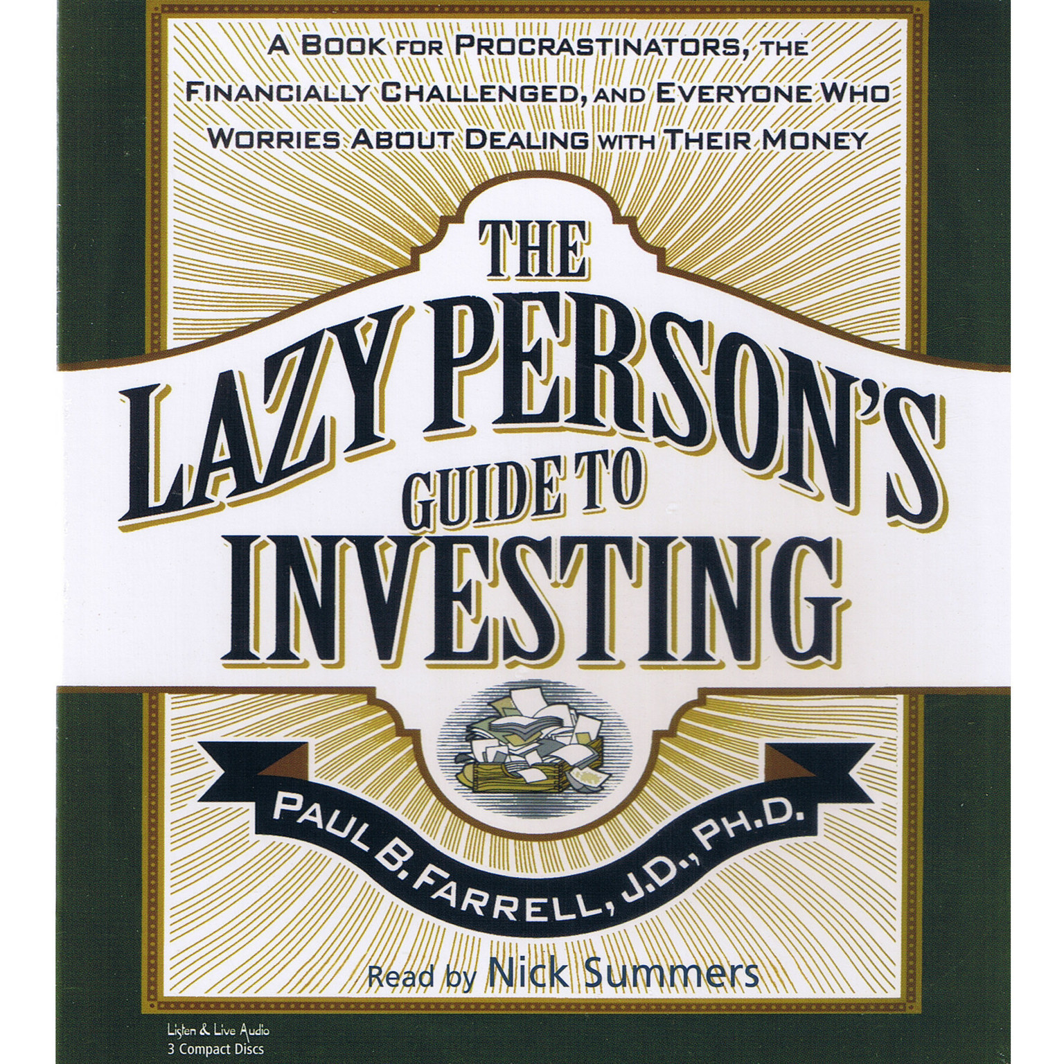 Printable The Lazy Person's Guide to Investing: A Book for Procrastinators, the Financially Challenged, and Everyone Who Worries about Dealing with Their Money Audiobook Cover Art
